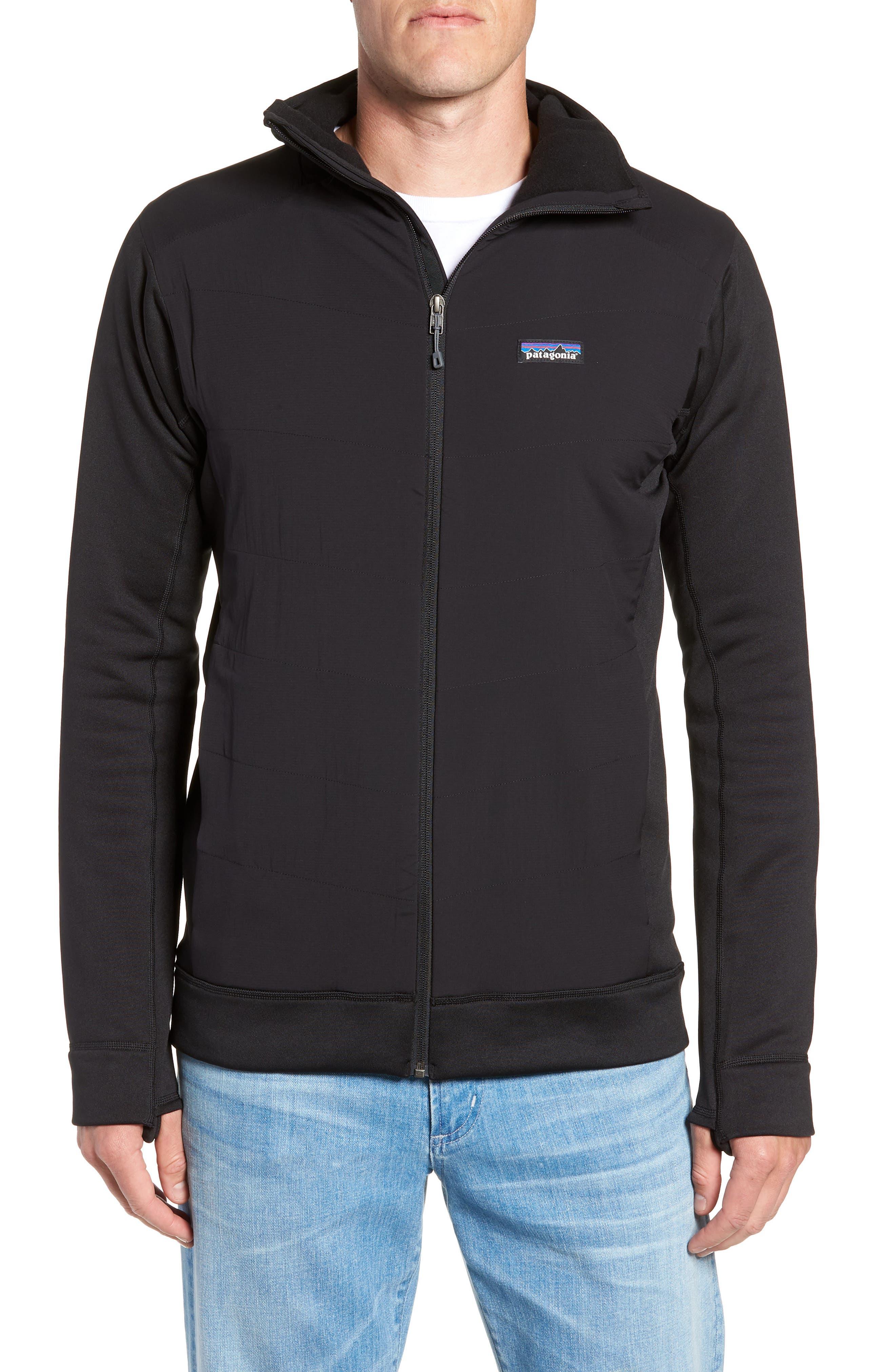 Crosstek Hybrid Hooded Jacket,                             Alternate thumbnail 4, color,                             BLACK