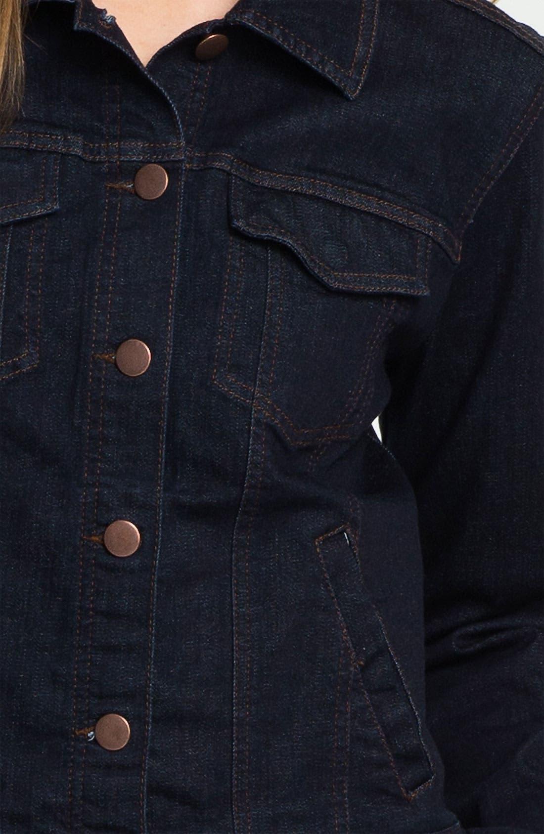 Organic Cotton Blend Denim Jacket,                             Alternate thumbnail 5, color,                             402