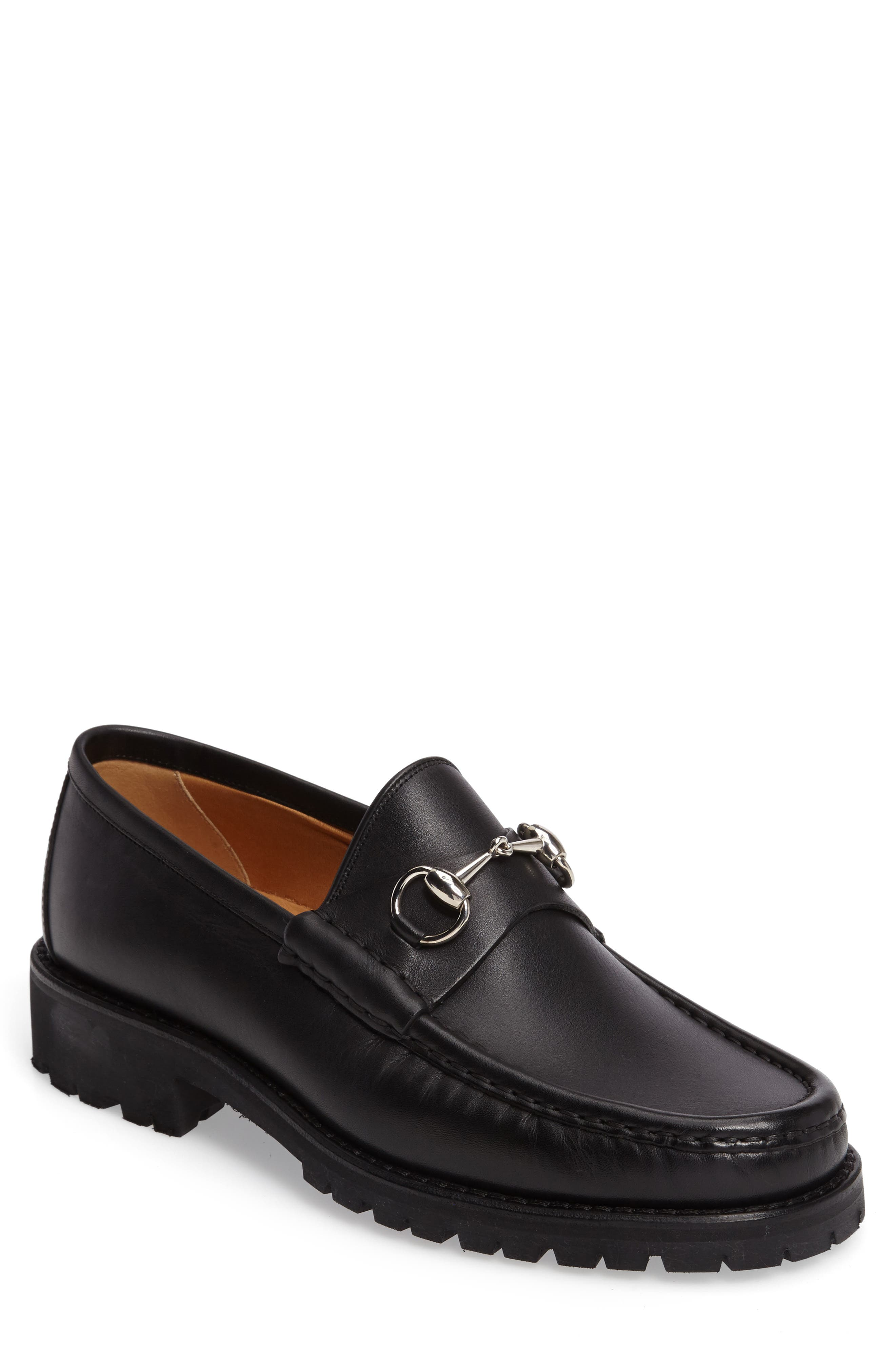 Classic Lug Sole Moccasin,                         Main,                         color, 1000 BLACK