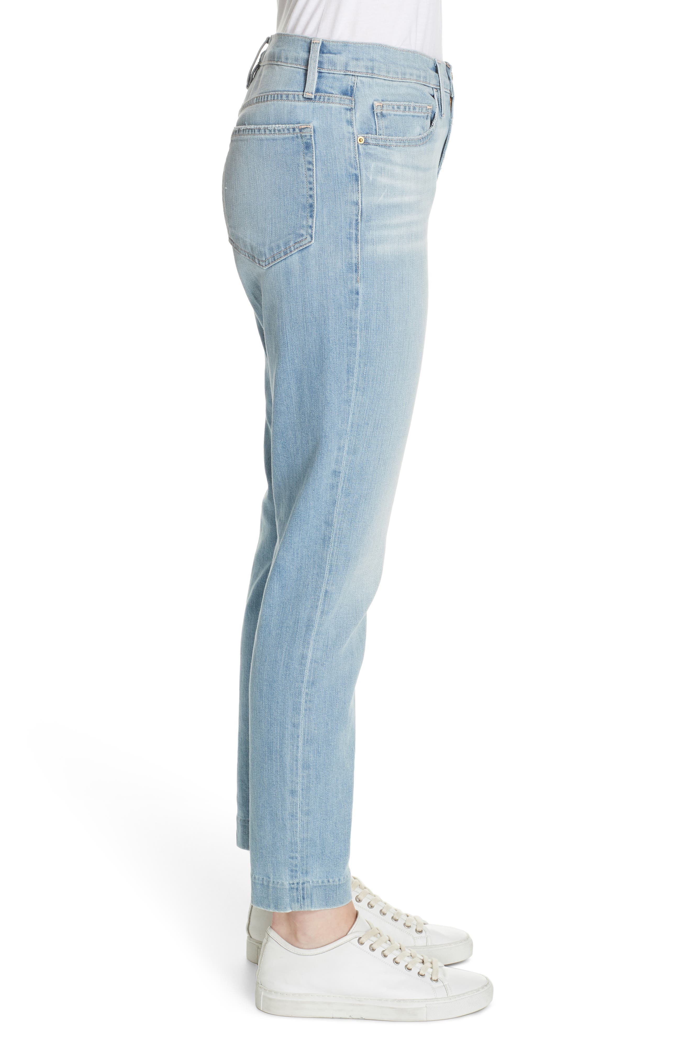 Le Boy High Waist Jeans,                             Alternate thumbnail 3, color,                             KEATON