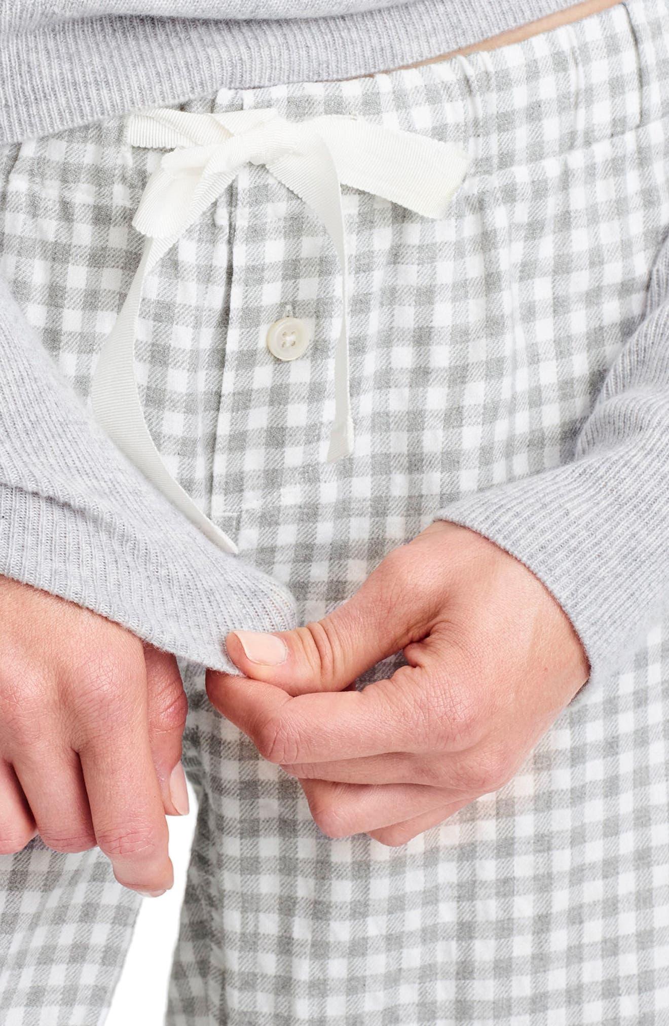 Grey Gingham Pajama Pants,                             Alternate thumbnail 2, color,                             020