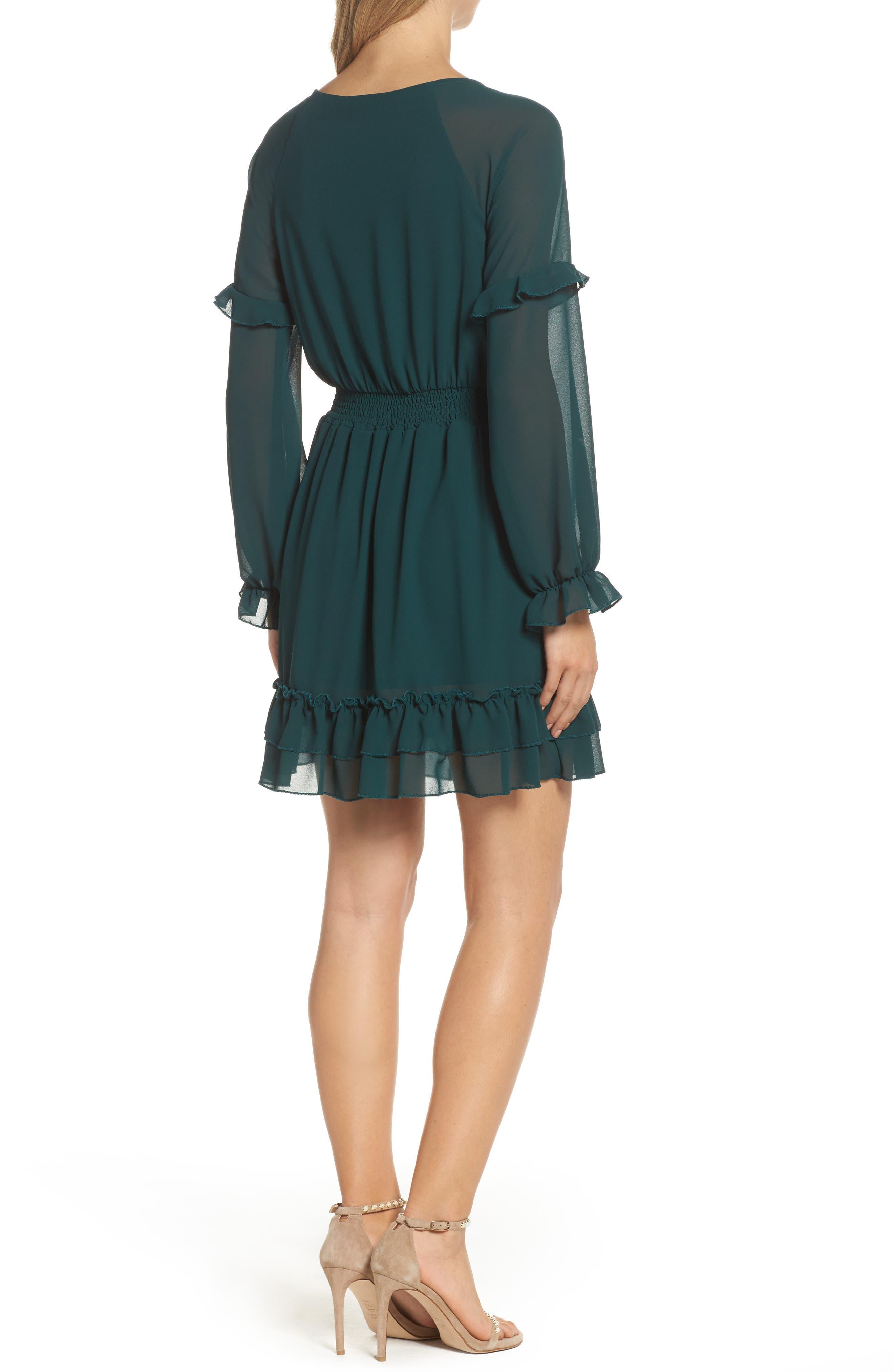 Julia Chiffon Skater Dress,                             Alternate thumbnail 3, color,