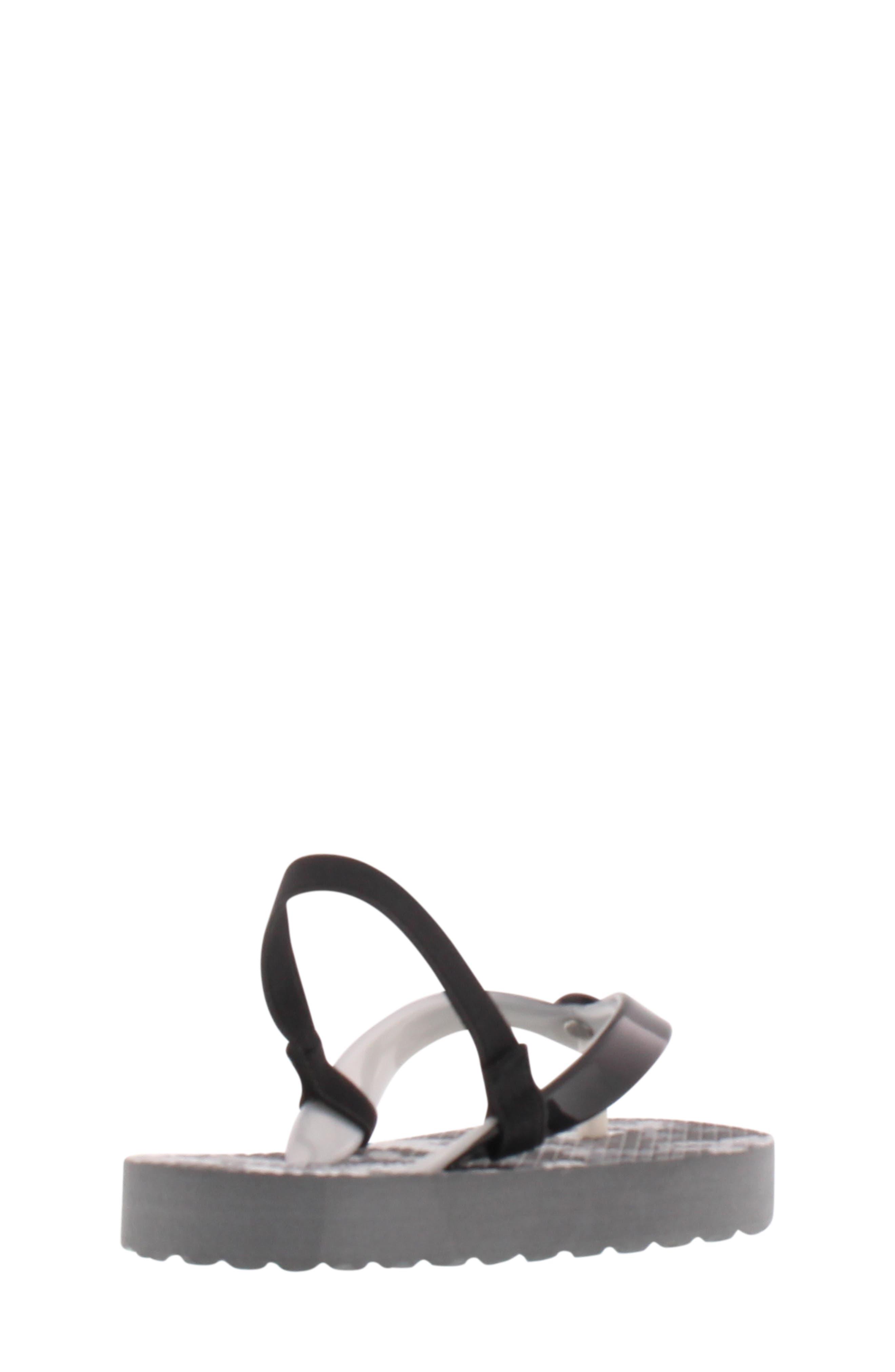 Endine Butterfly Sandal,                             Alternate thumbnail 2, color,                             BLACK GREY