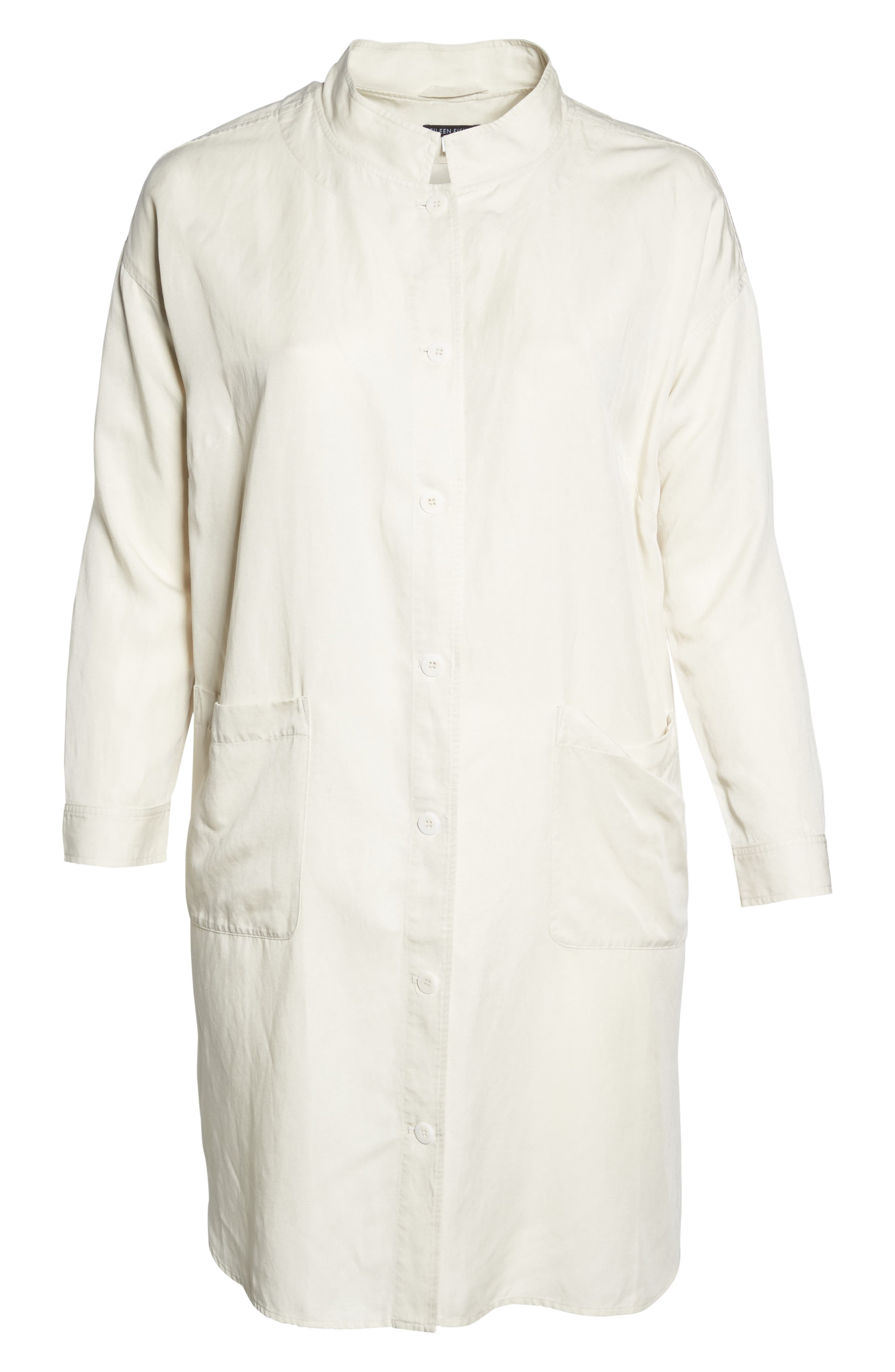 Long Tencel<sup>®</sup> Lyocell & Linen Jacket,                             Alternate thumbnail 10, color,