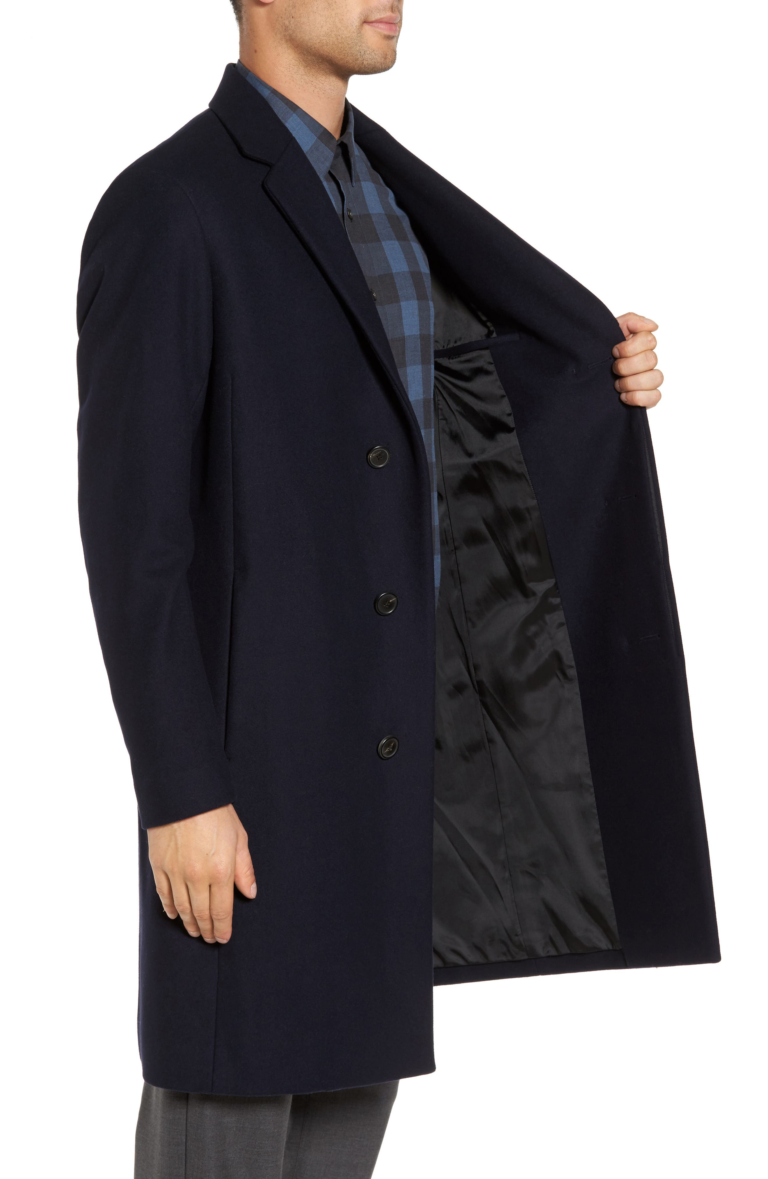Bower Melton Wool Blend Topcoat,                             Alternate thumbnail 9, color,