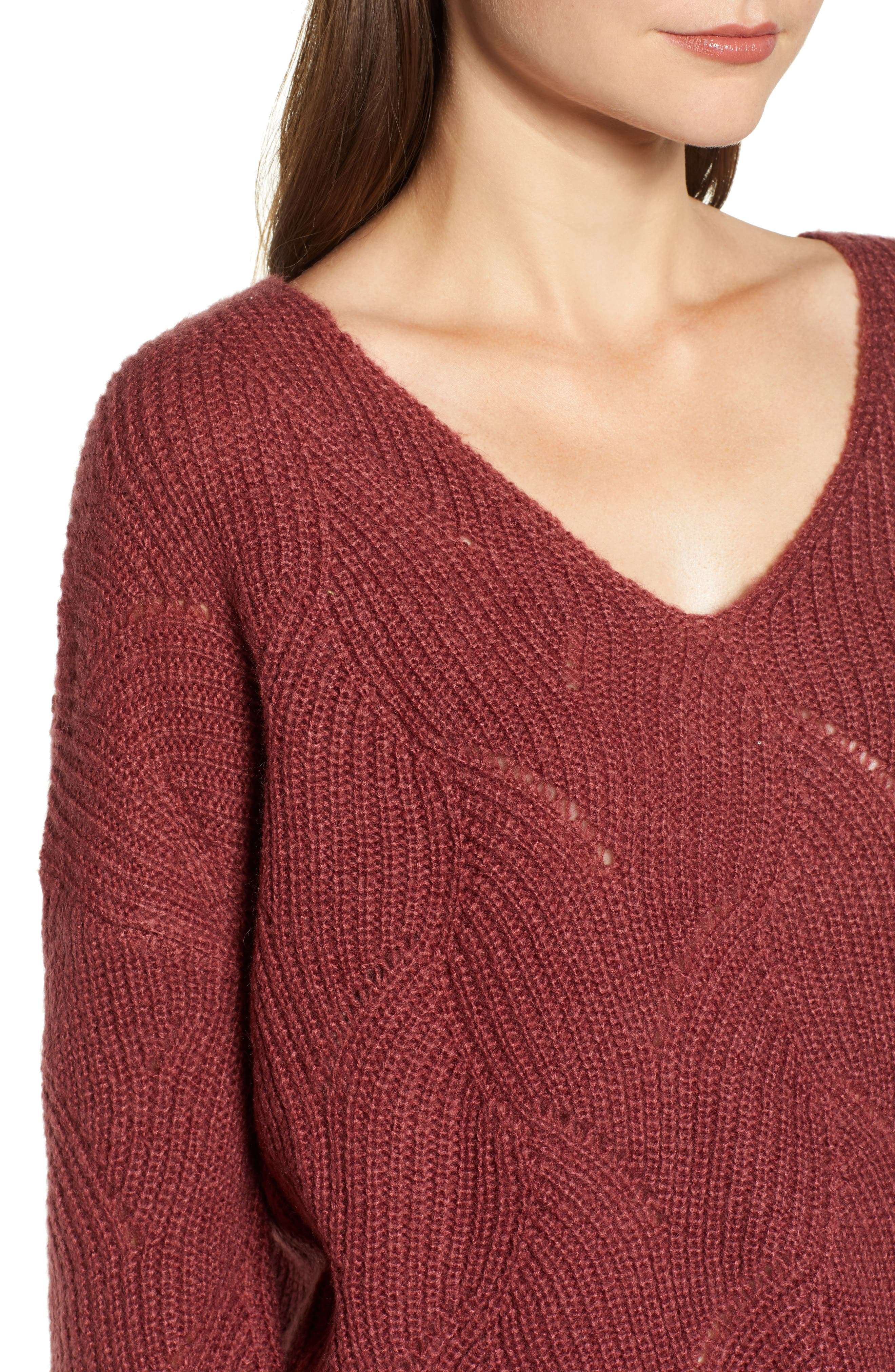 ROXY,                             See You In Bali Sweater,                             Alternate thumbnail 4, color,                             600