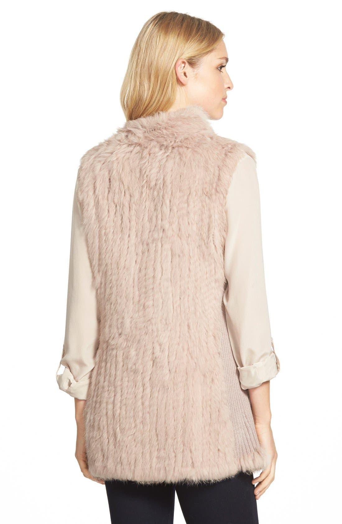 Genuine Rabbit Fur & Knit Vest,                             Alternate thumbnail 35, color,