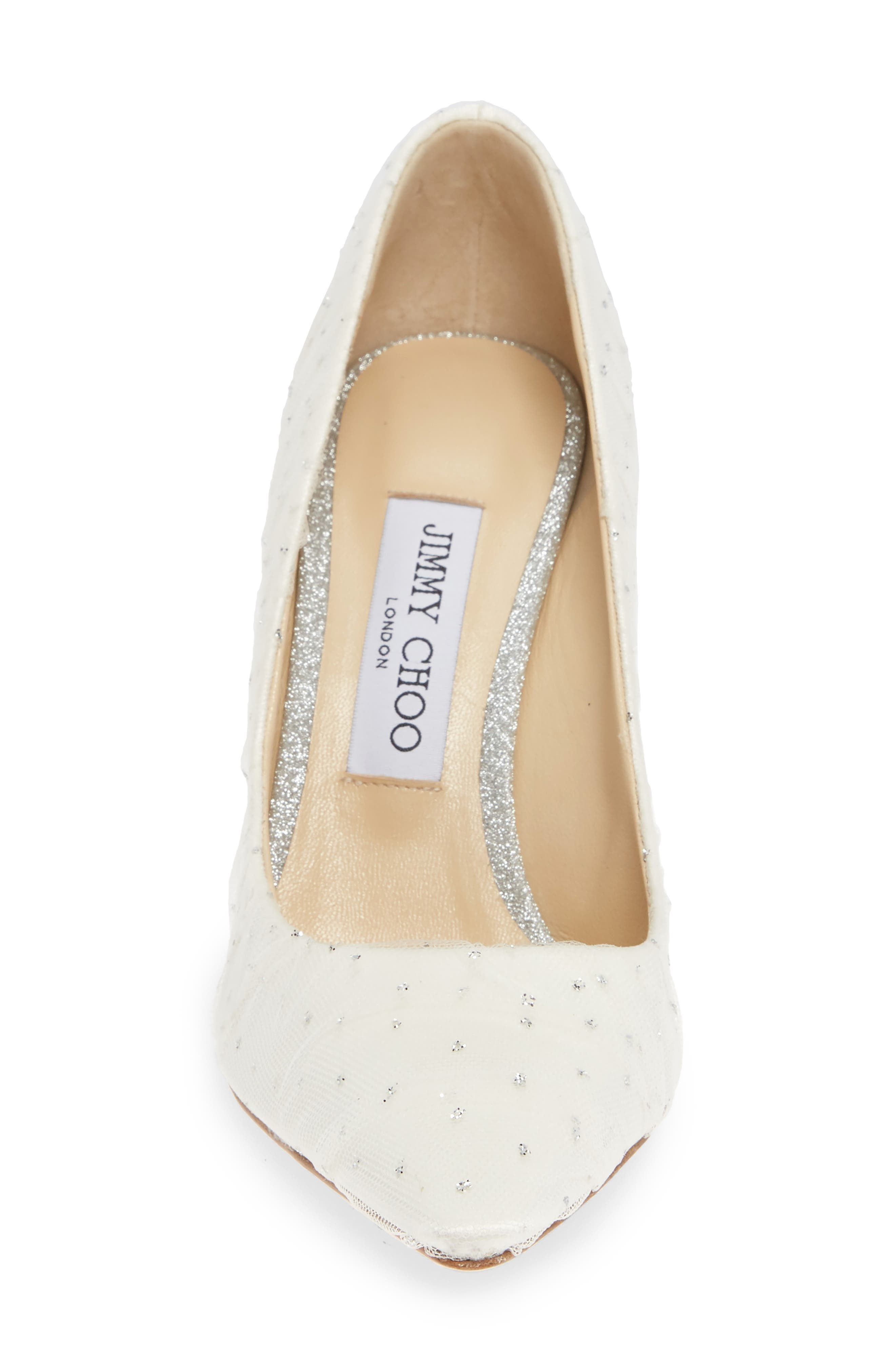 Romy Pointy Toe Pump,                             Alternate thumbnail 4, color,                             WHITE/ SILVER