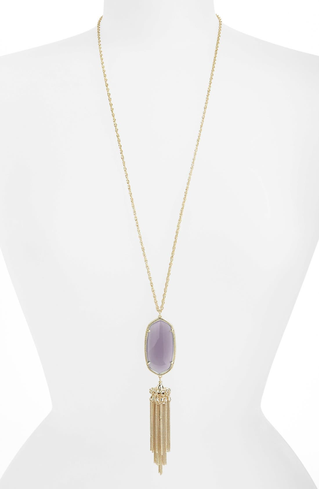 Rayne Stone Tassel Pendant Necklace,                             Main thumbnail 27, color,