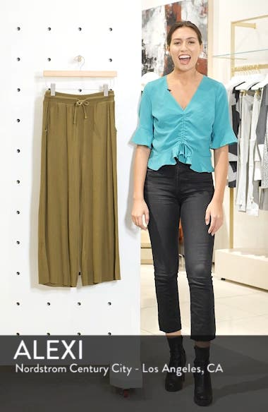 Ribbed Wide Leg Crop Pants, sales video thumbnail