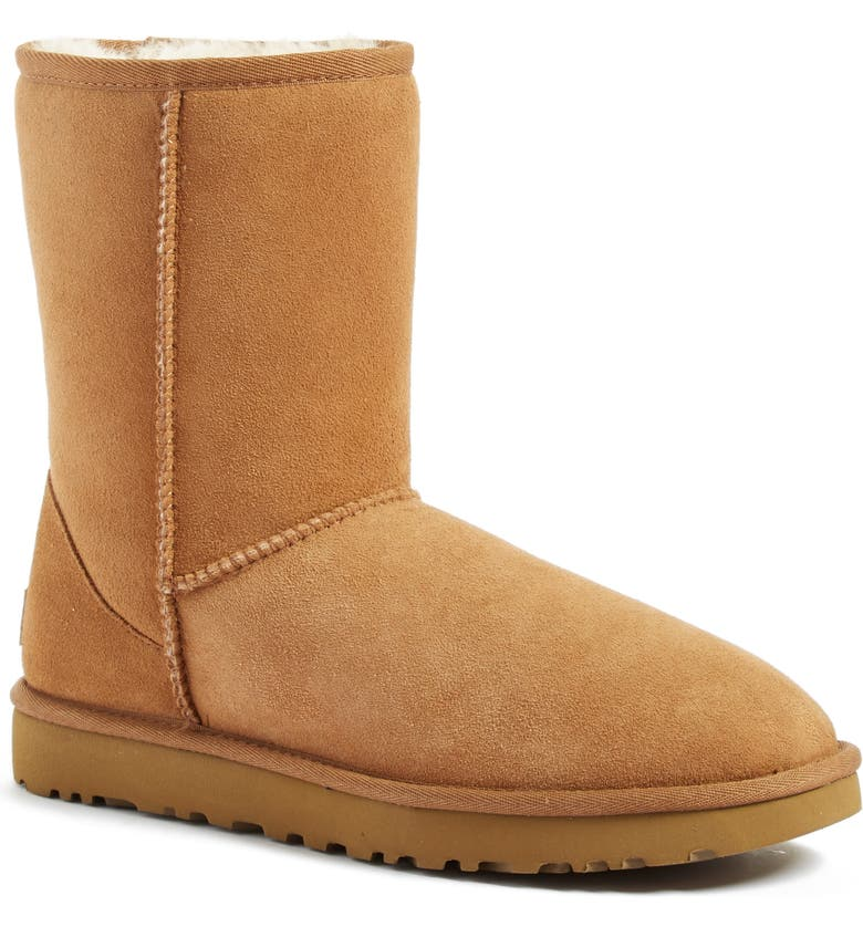 Savings UGG Classic II Genuine Shearling Lined Short Boot (Women) Great deals