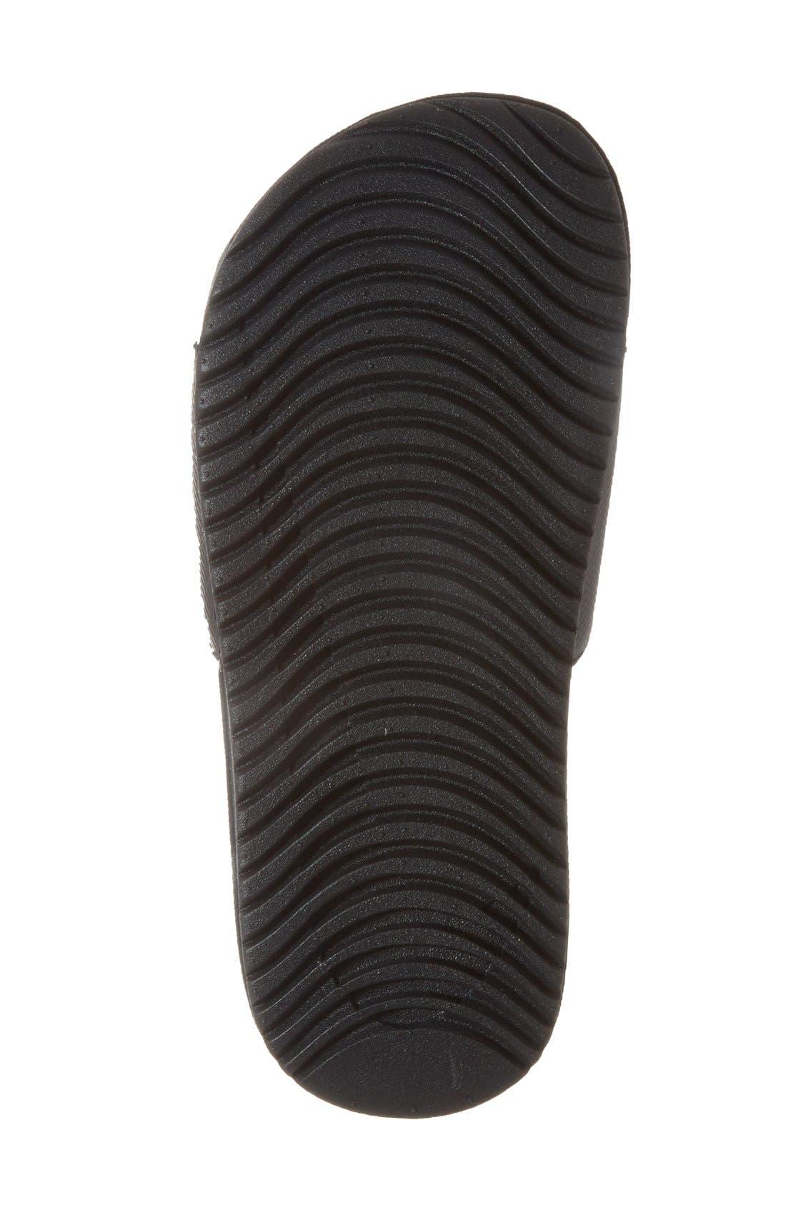 'Kawa' Slide Sandal,                             Alternate thumbnail 4, color,                             BLACK/ WHITE