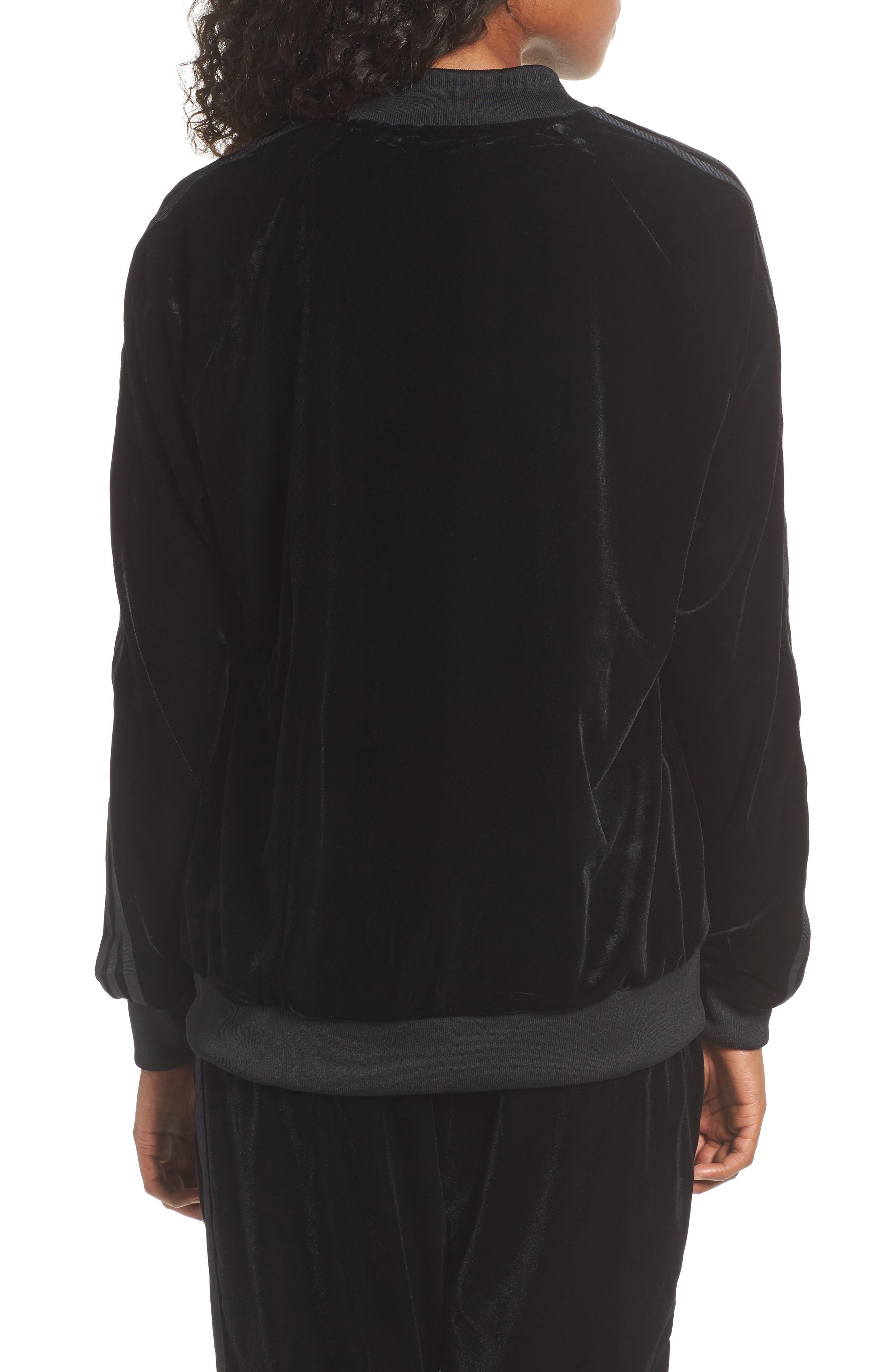 Velvet Zip Sweatshirt,                             Alternate thumbnail 2, color,