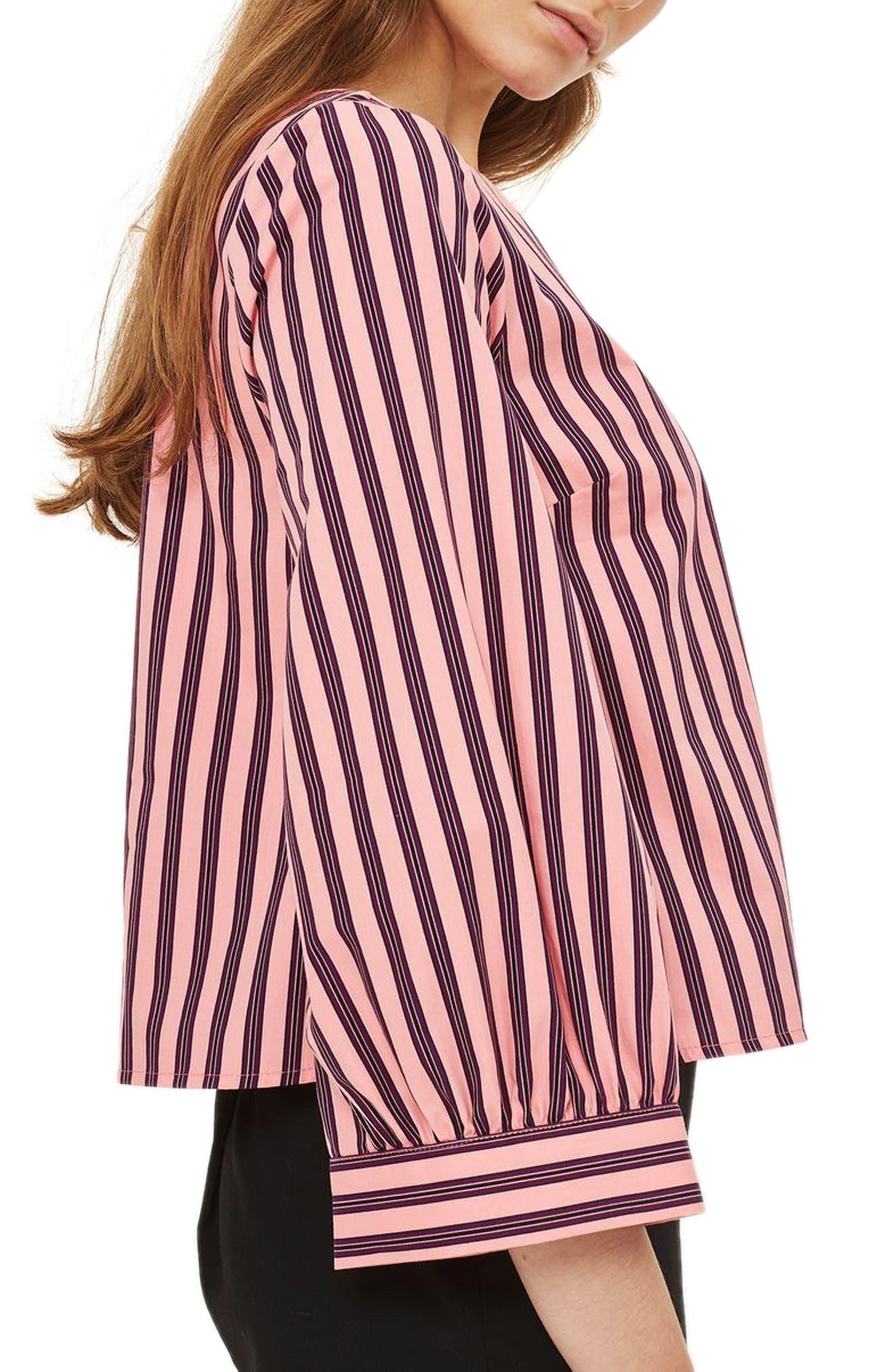 Stripe Wide Sleeve Top,                             Alternate thumbnail 3, color,                             660
