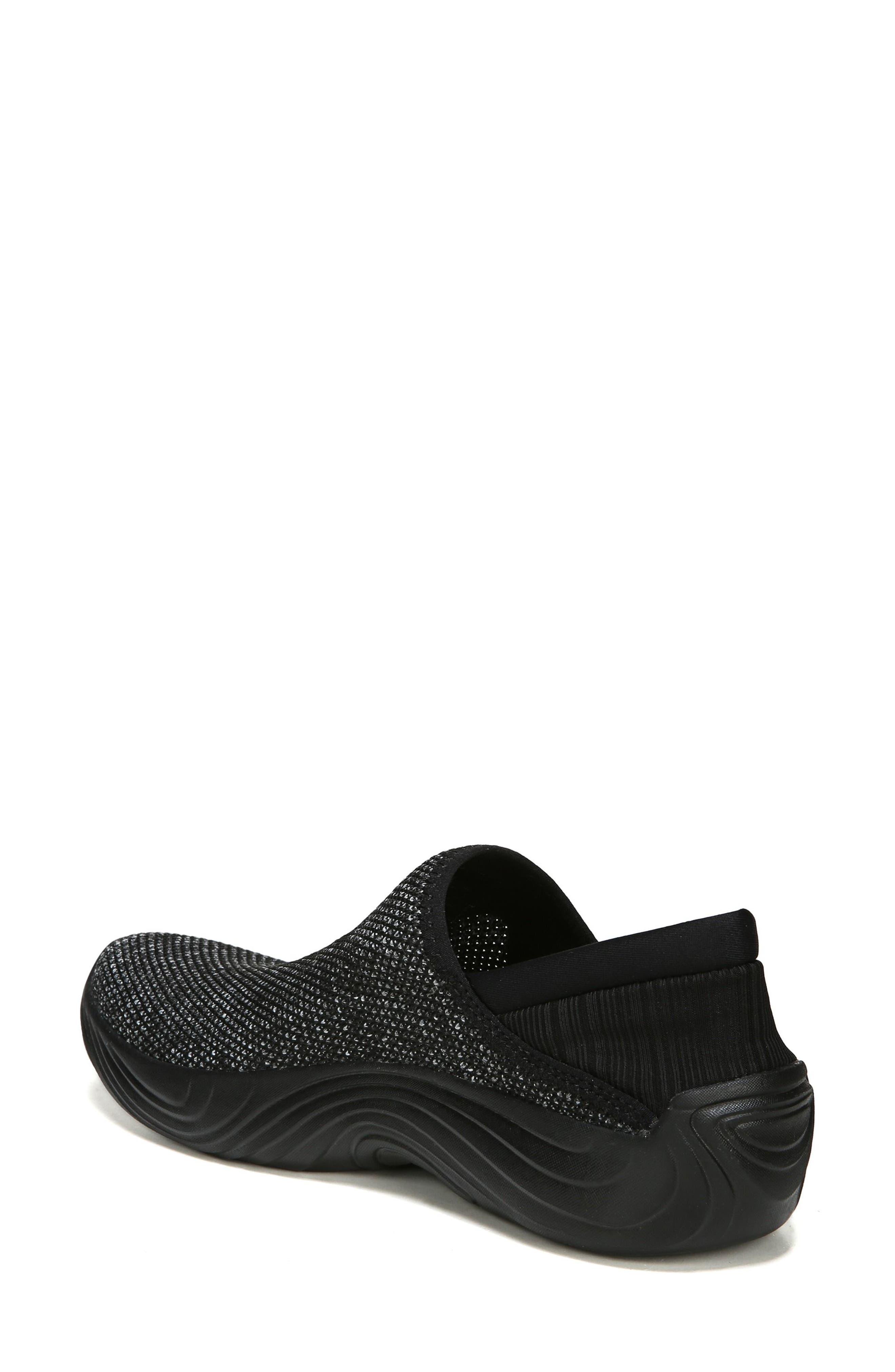 Topaz Slip-On Sneaker,                             Alternate thumbnail 2, color,                             BLACK FABRIC