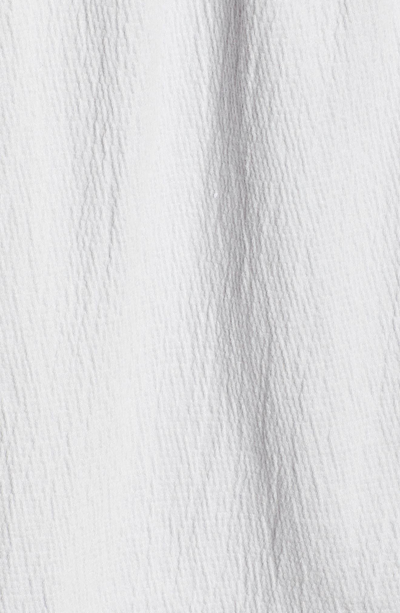 Ruffle Knit Top,                             Alternate thumbnail 6, color,                             030