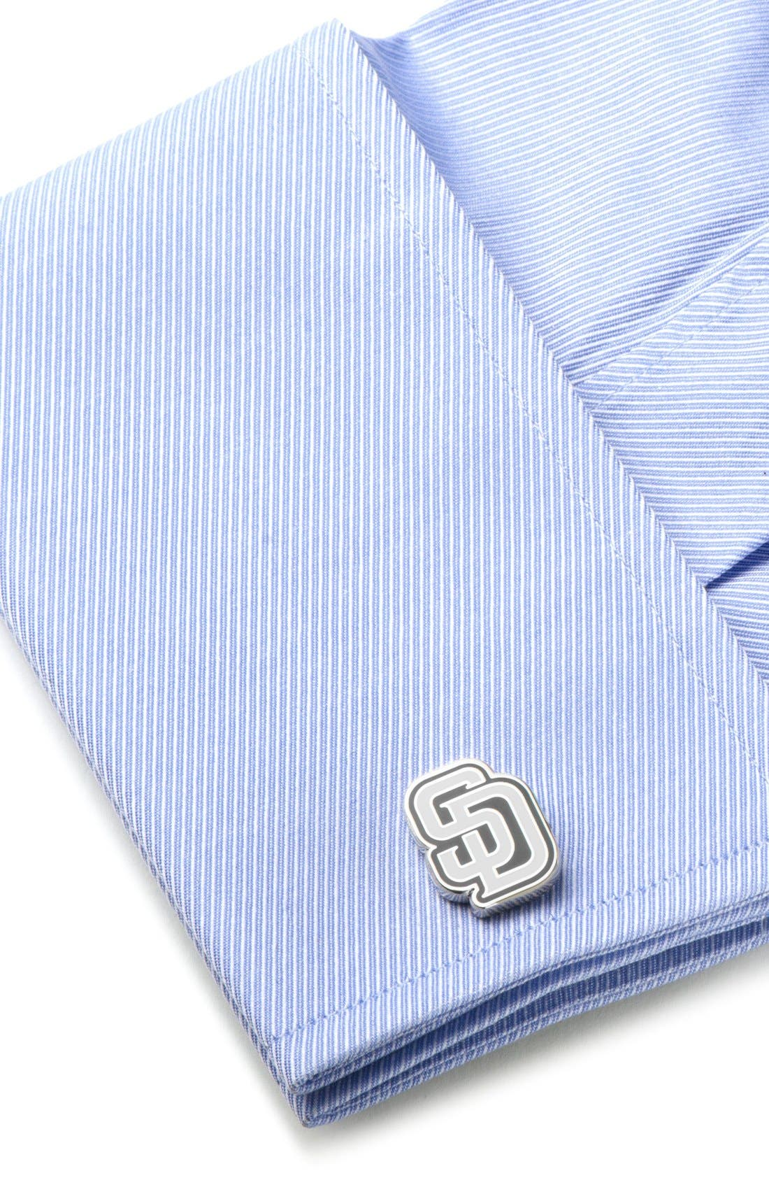 San Diego Padres Cuff Links,                             Alternate thumbnail 2, color,                             BLUE