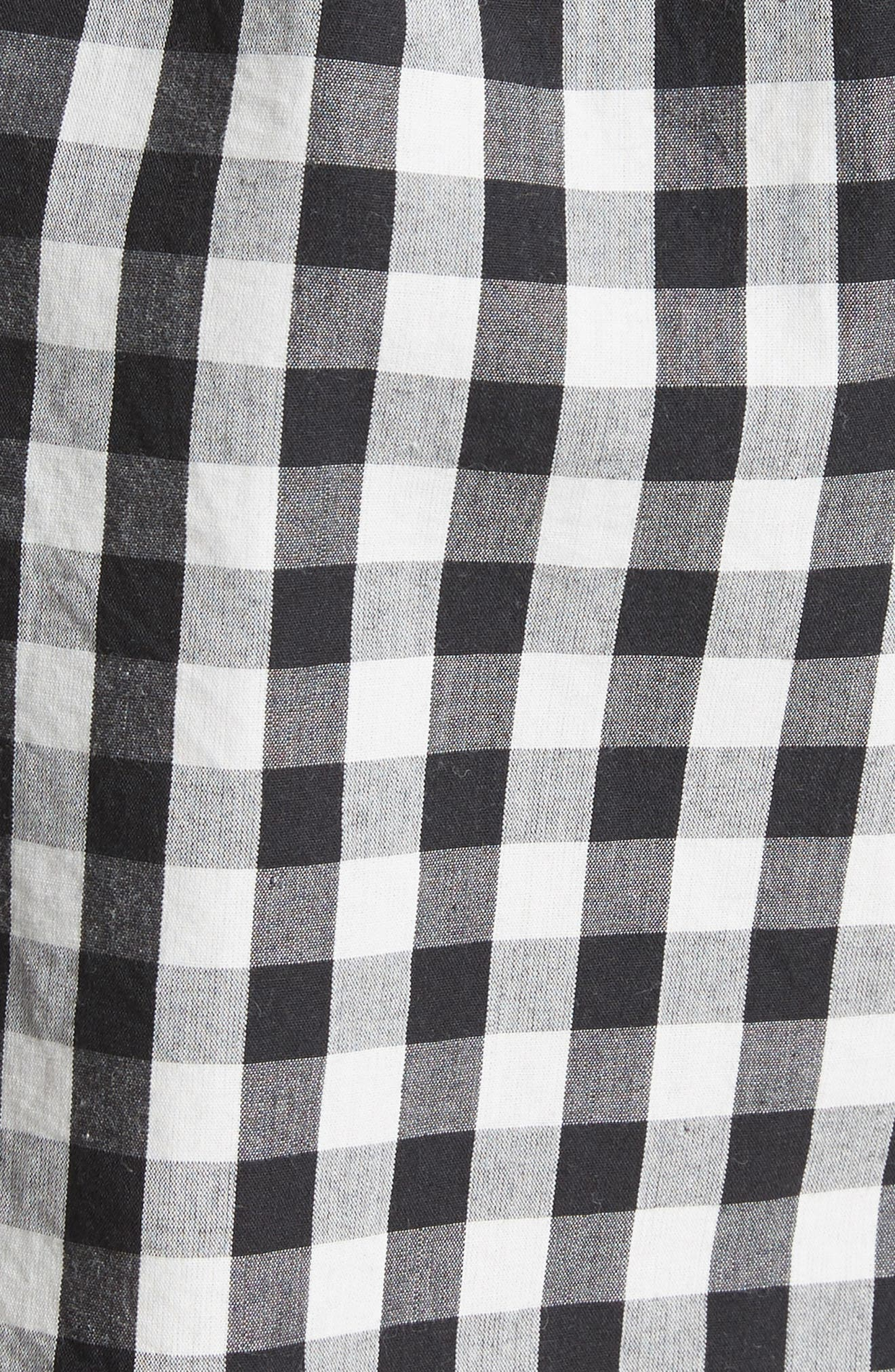 JOIE,                             Cleantha Gingham Cotton Shorts,                             Alternate thumbnail 5, color,                             001