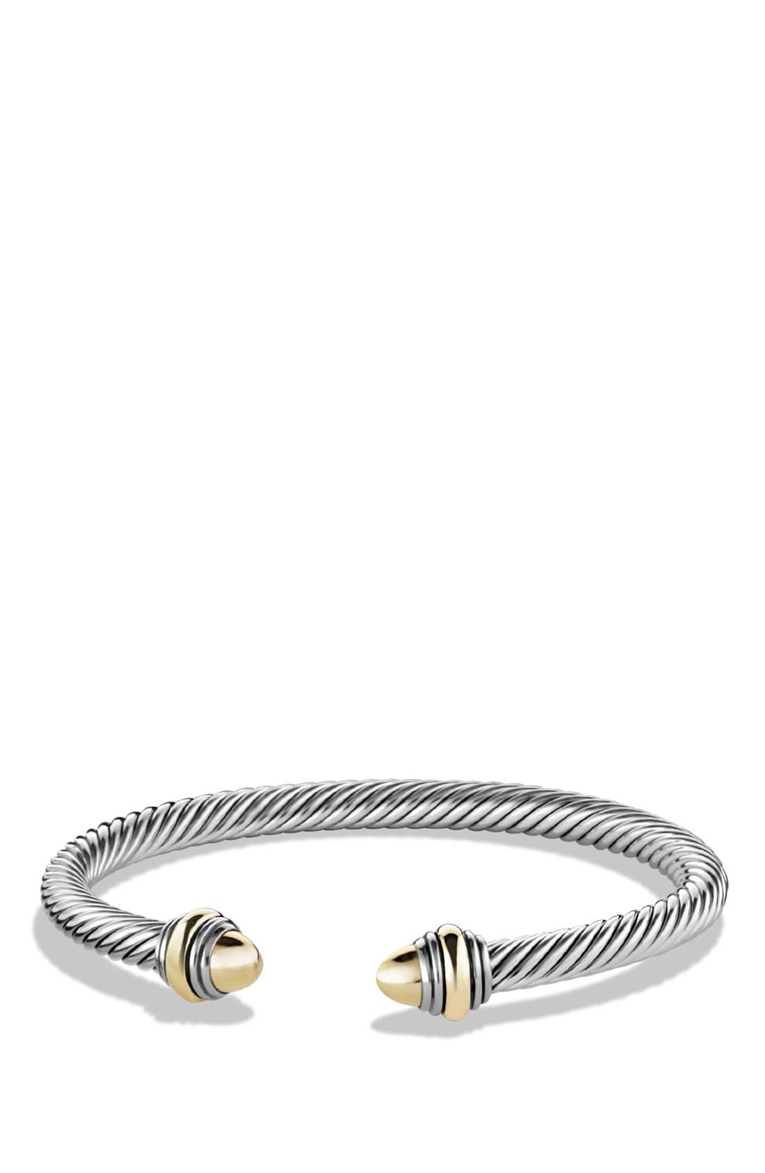 Cable Classics Bracelet with Gold, 5mm,                         Main,                         color, GOLD DOME