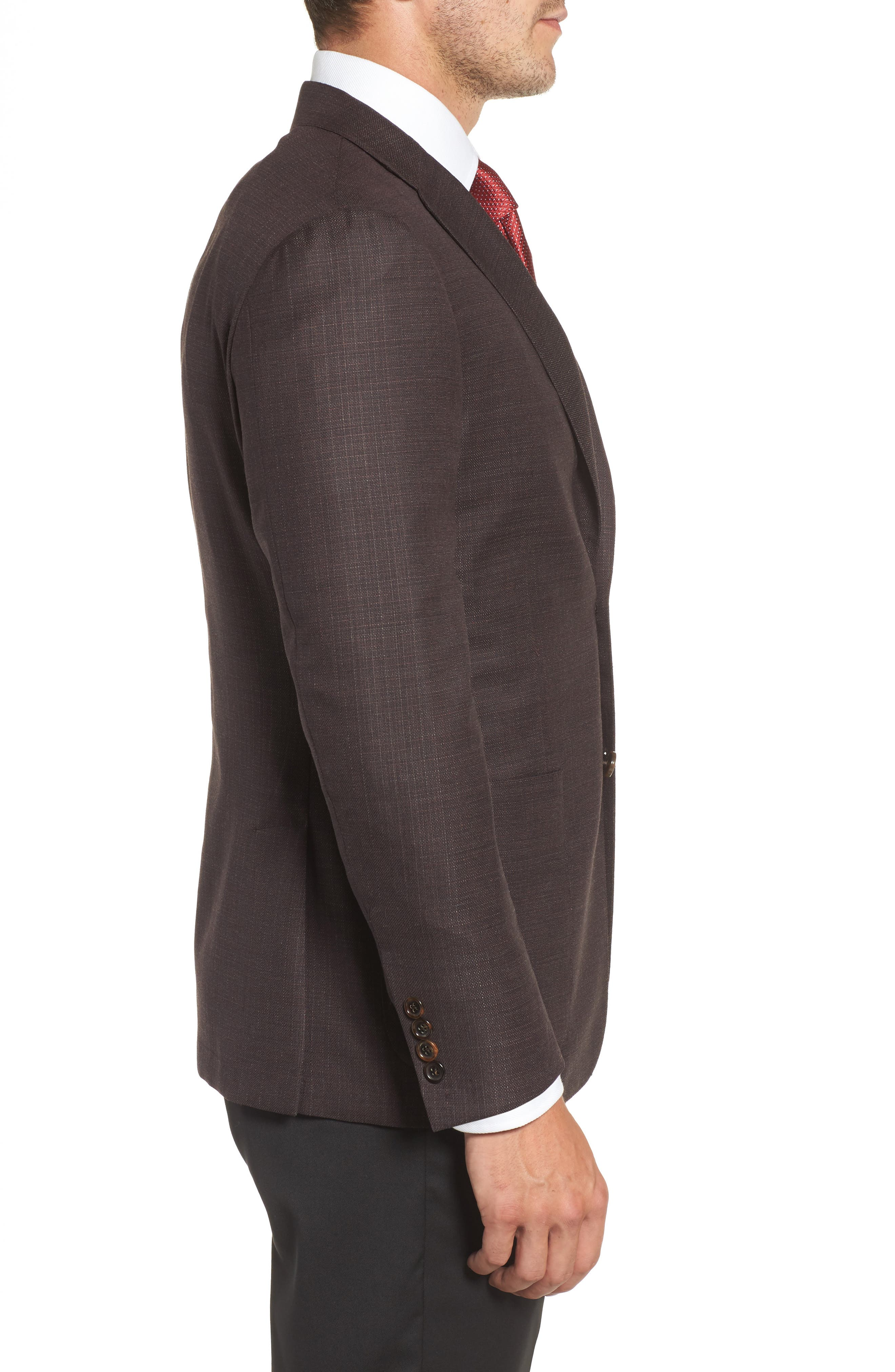 Classic B Fit Wool Blazer,                             Alternate thumbnail 3, color,                             601