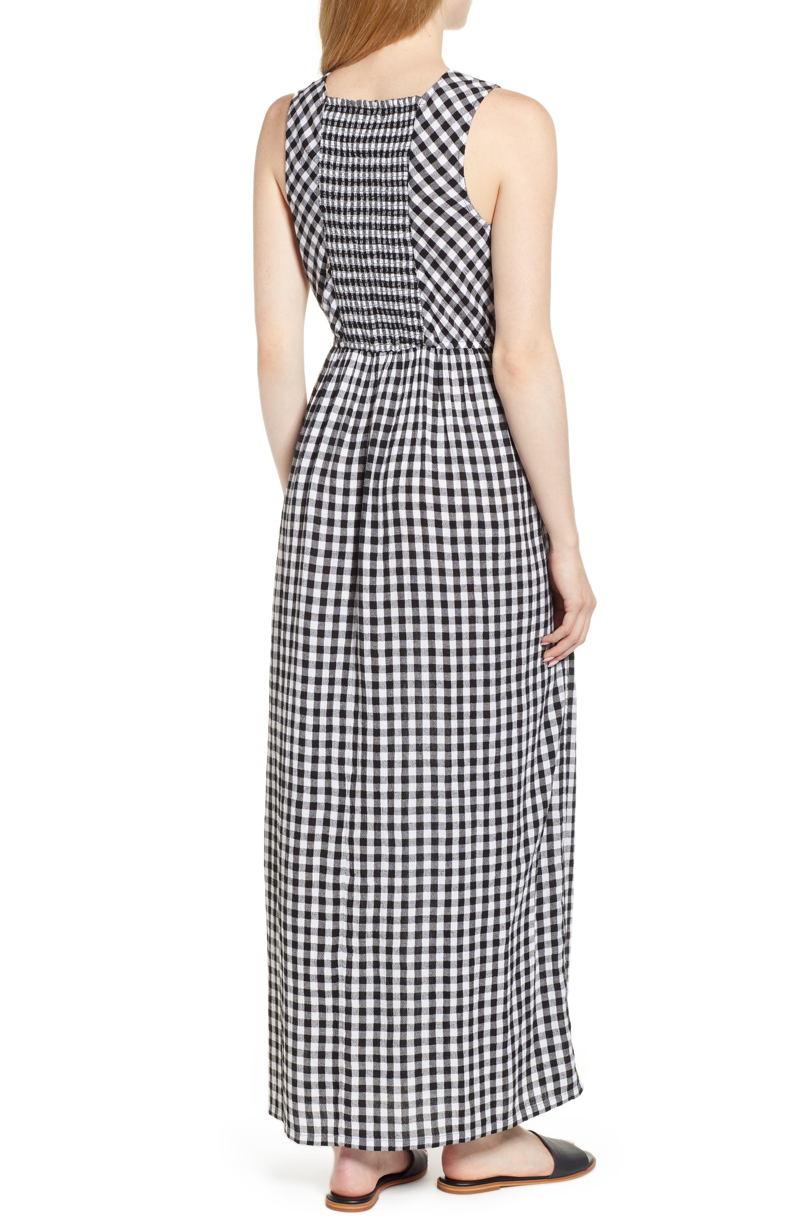 Smocked Back Maxi Dress,                             Alternate thumbnail 2, color,                             002