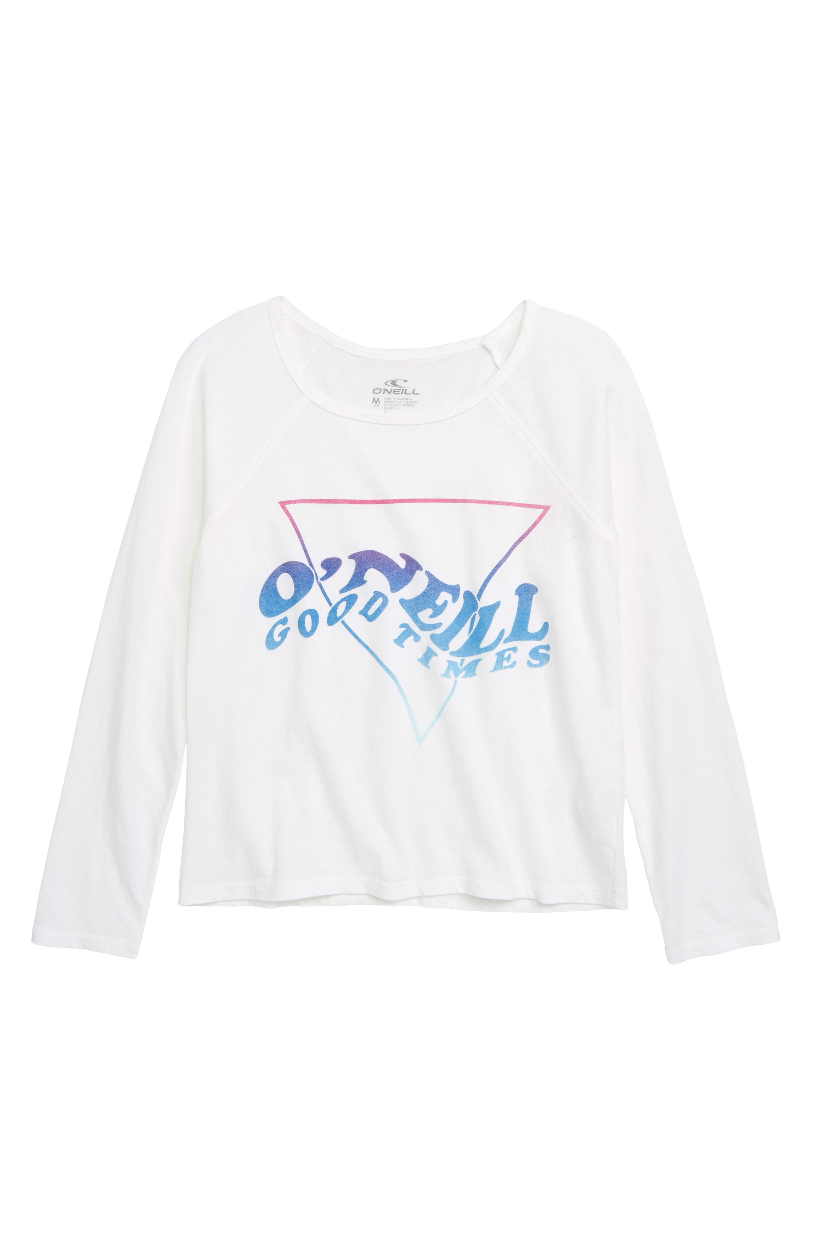O'NEILL Like Minded Screen Print Tee, Main, color, WHITE