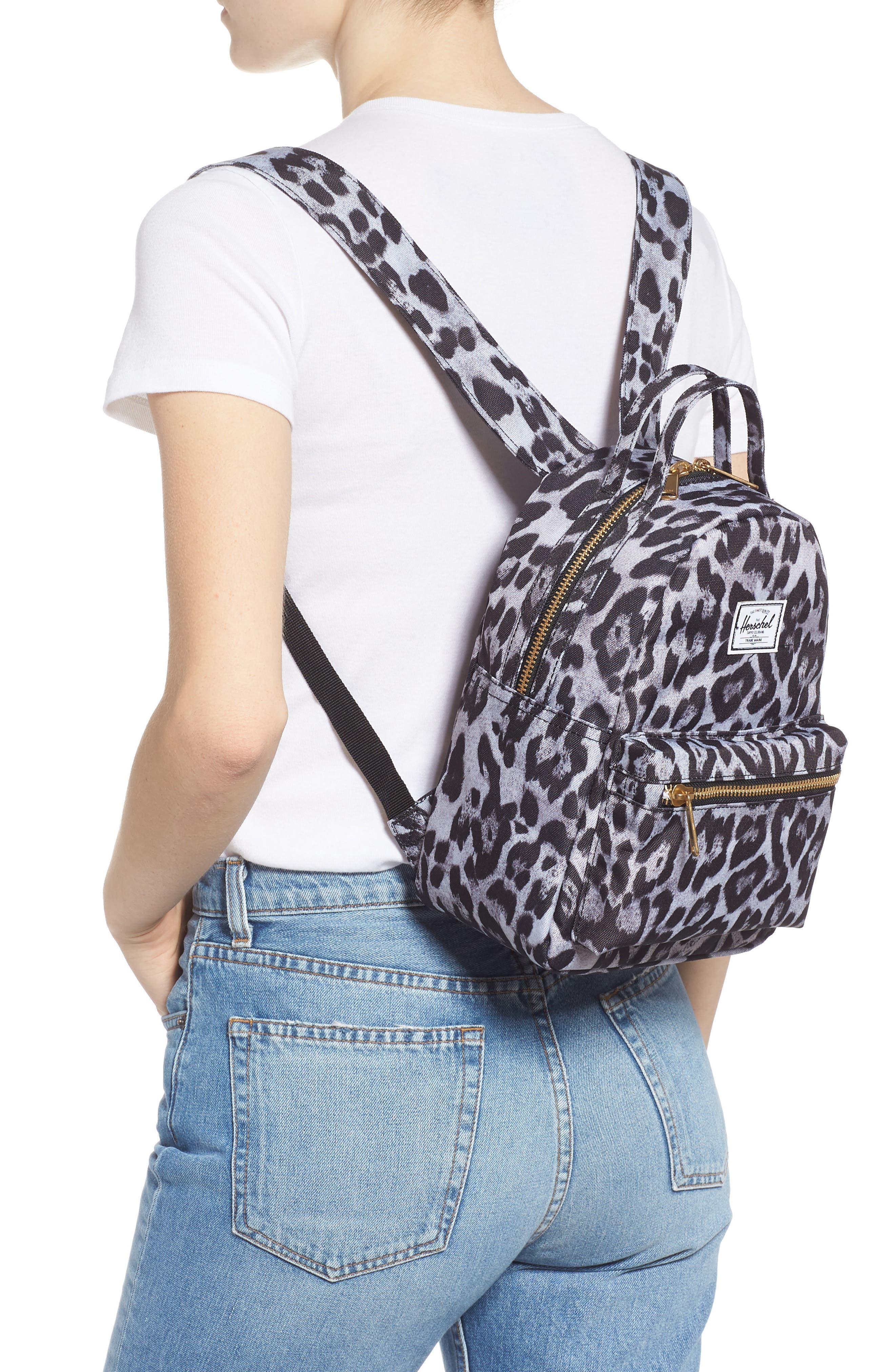 Mini Nova Backpack,                             Alternate thumbnail 2, color,                             SNOW LEOPARD
