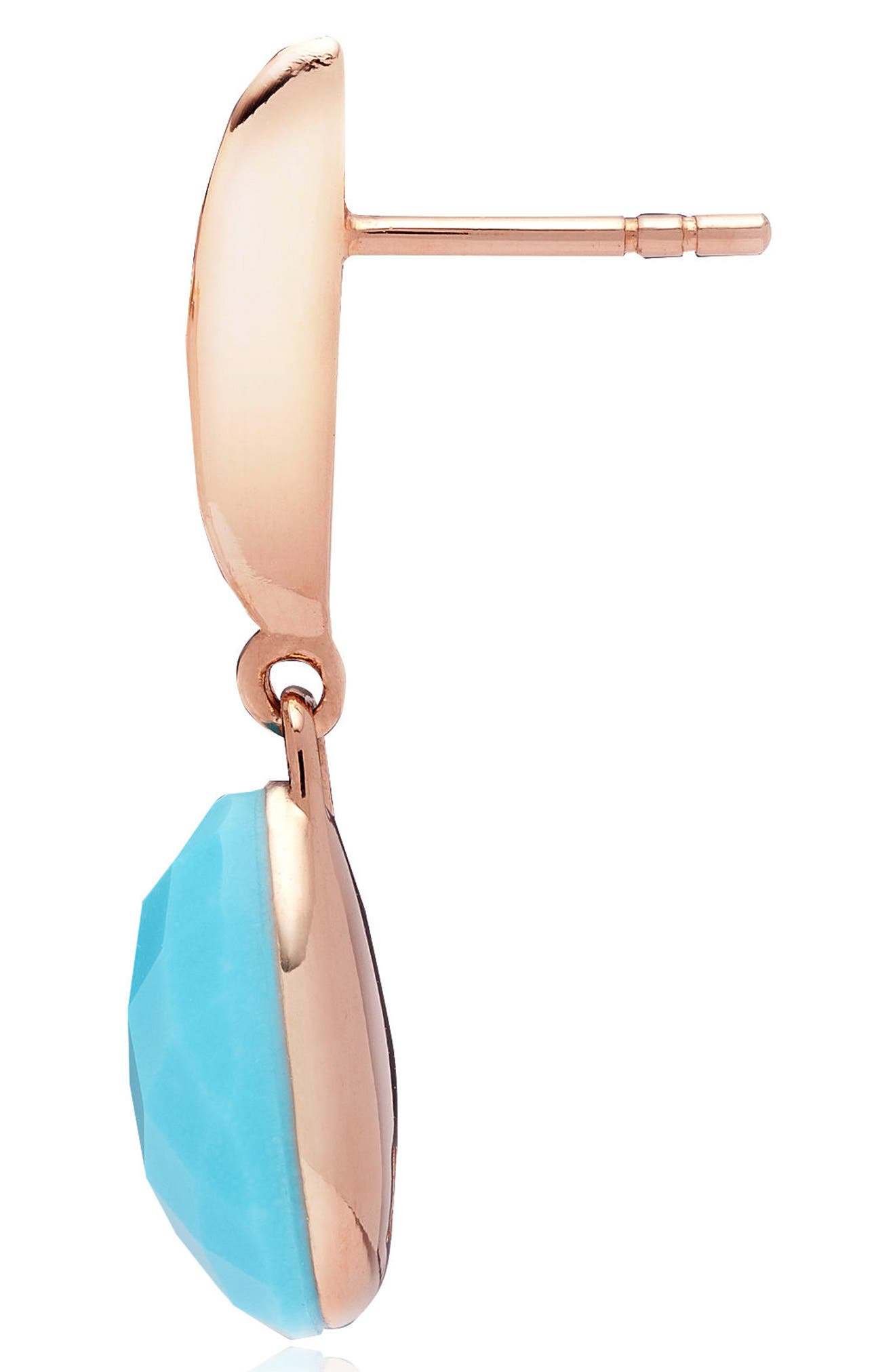 Nura Small Teardrop Earrings,                             Alternate thumbnail 4, color,                             TURQUOISE