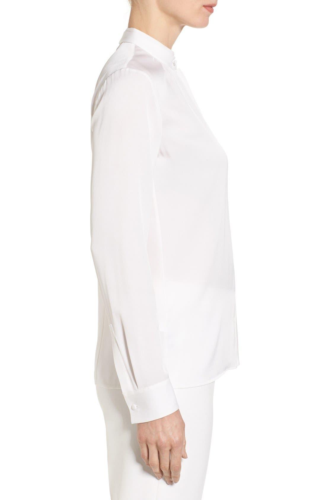 'Blusil' Stretch Silk Blouse,                             Alternate thumbnail 5, color,                             659