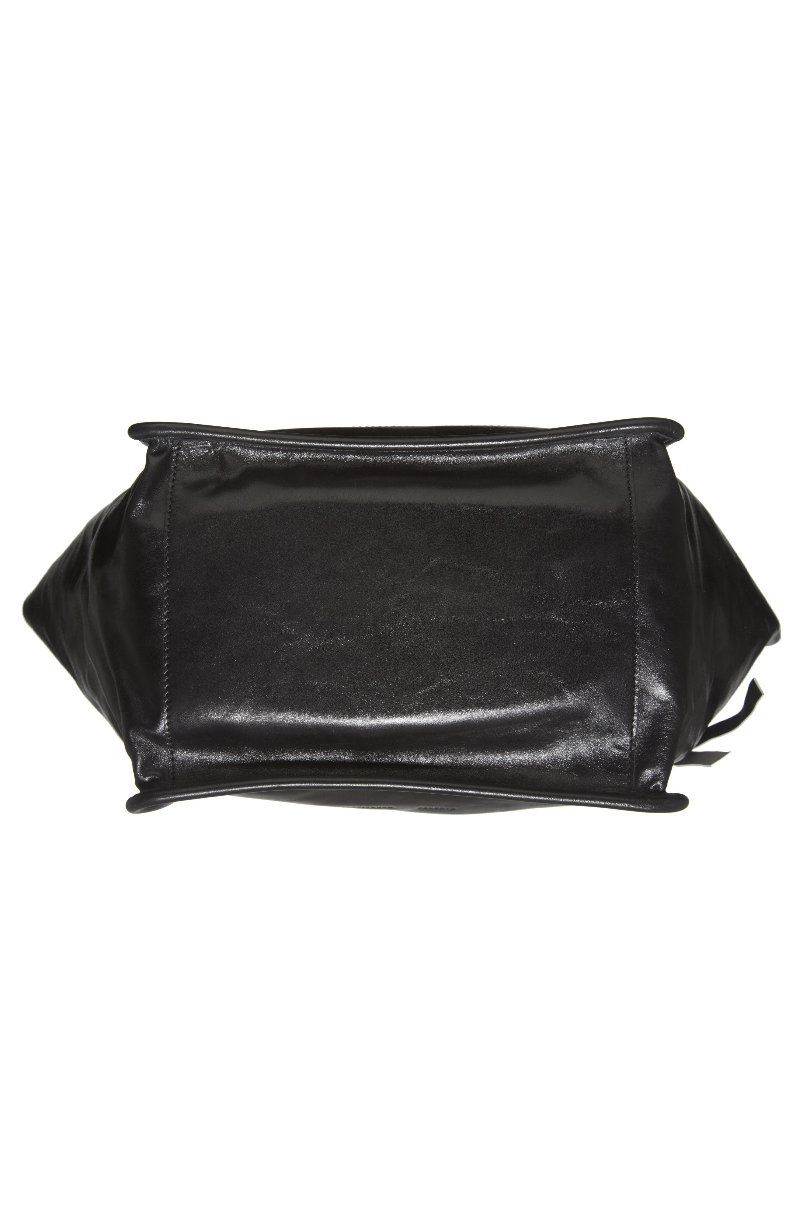 Extra Large Leather Tote,                             Alternate thumbnail 6, color,                             BLACK