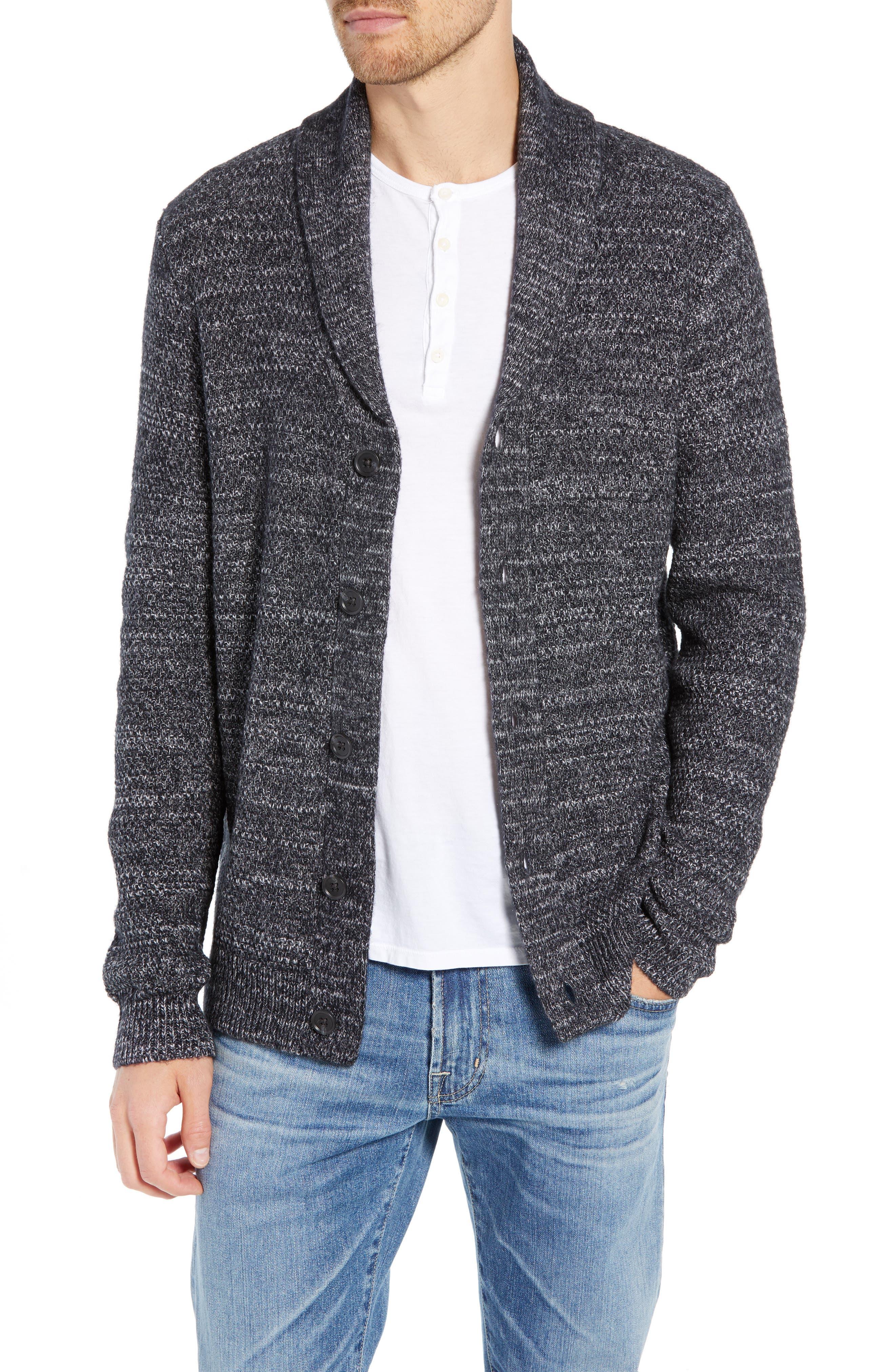 Nordstrom Shop Shawl Collar Cardigan, Black