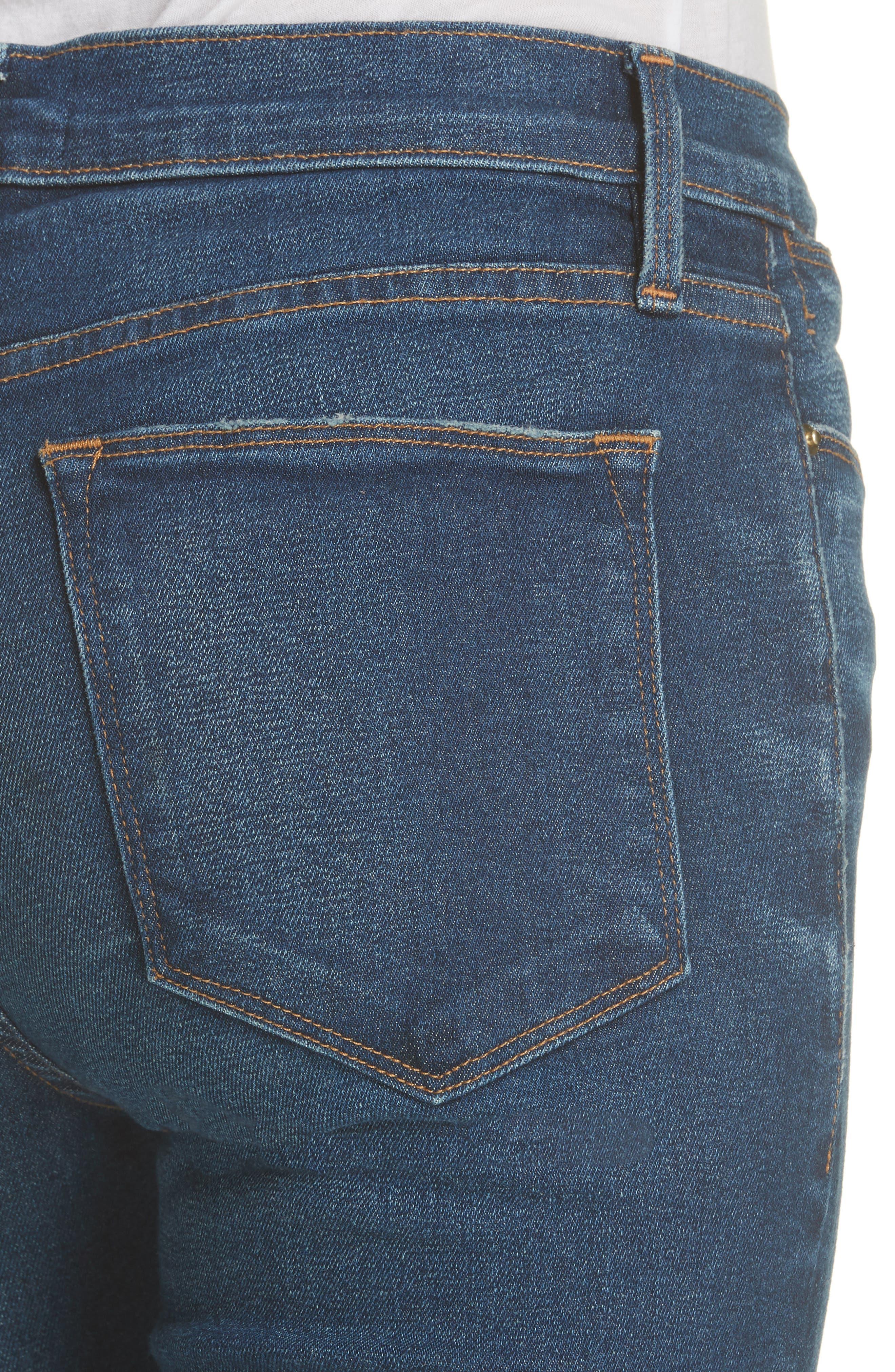 Le High Skinny Jeans,                             Alternate thumbnail 4, color,                             401