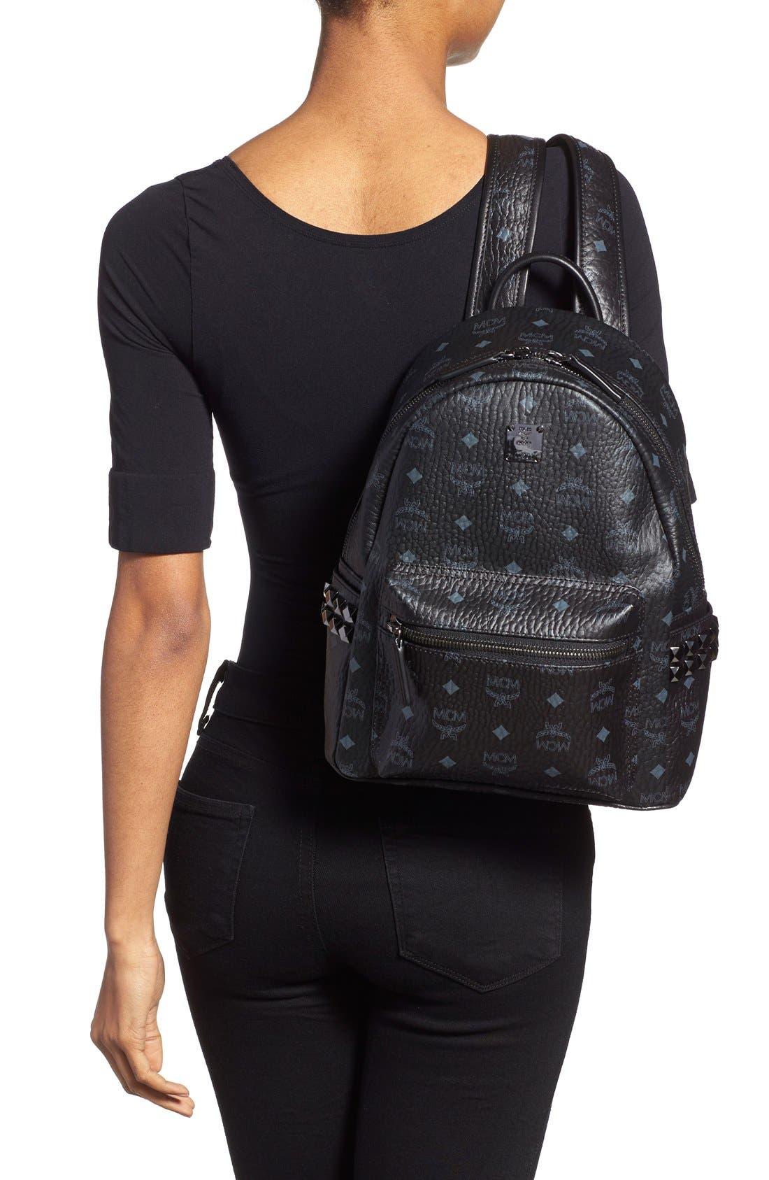 Small Stark Side Stud Backpack,                             Alternate thumbnail 2, color,                             001