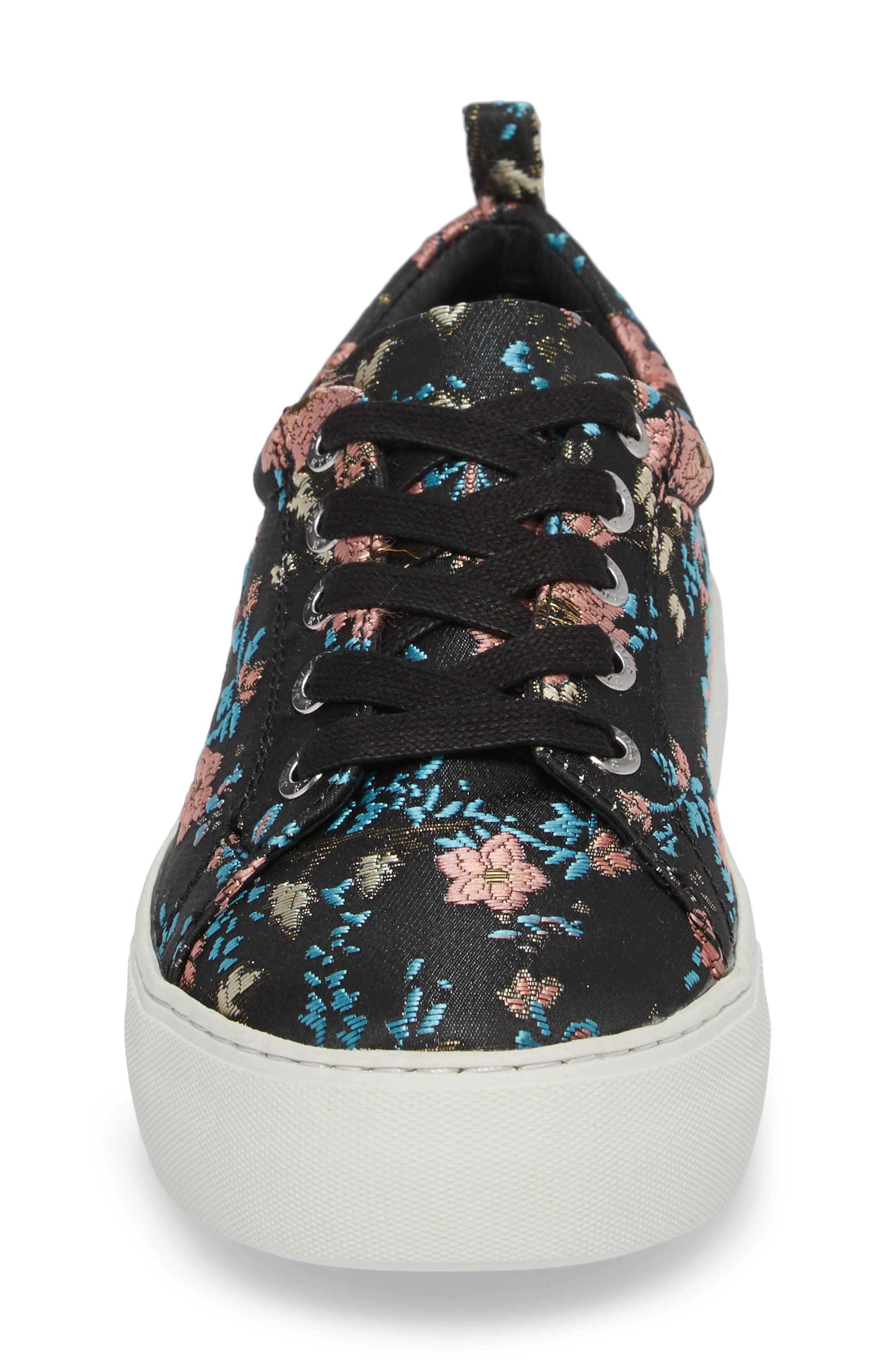 Assure Embroidered Platform Sneaker,                             Alternate thumbnail 4, color,                             016