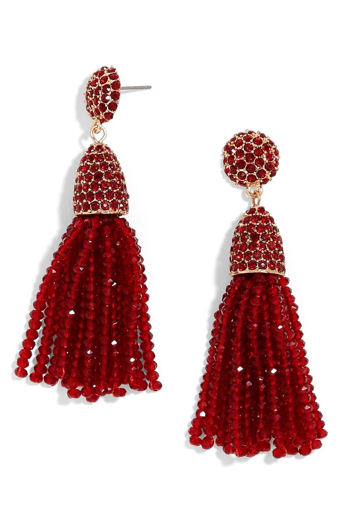 Annabelle Mini Tassel Drop Earrings,                             Main thumbnail 5, color,