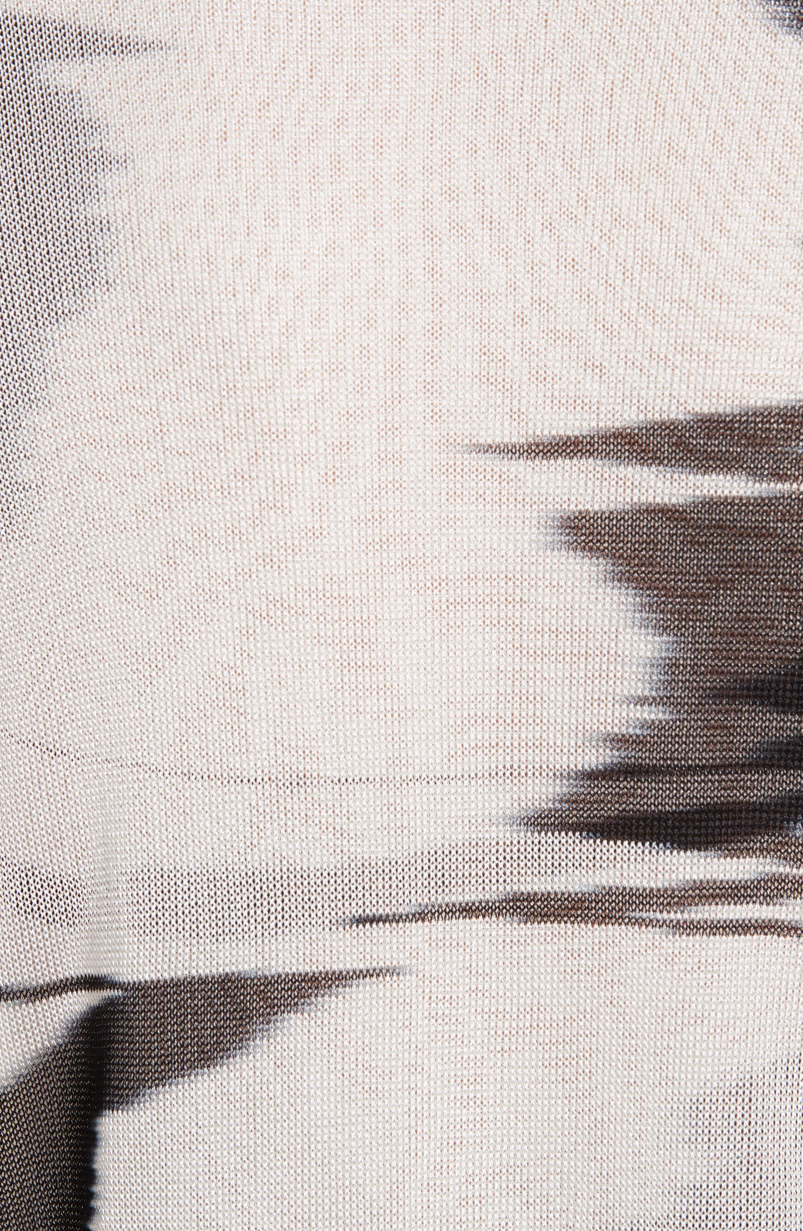 Space Dye Cardigan,                             Alternate thumbnail 5, color,                             F0009 BLACK/ WHITE