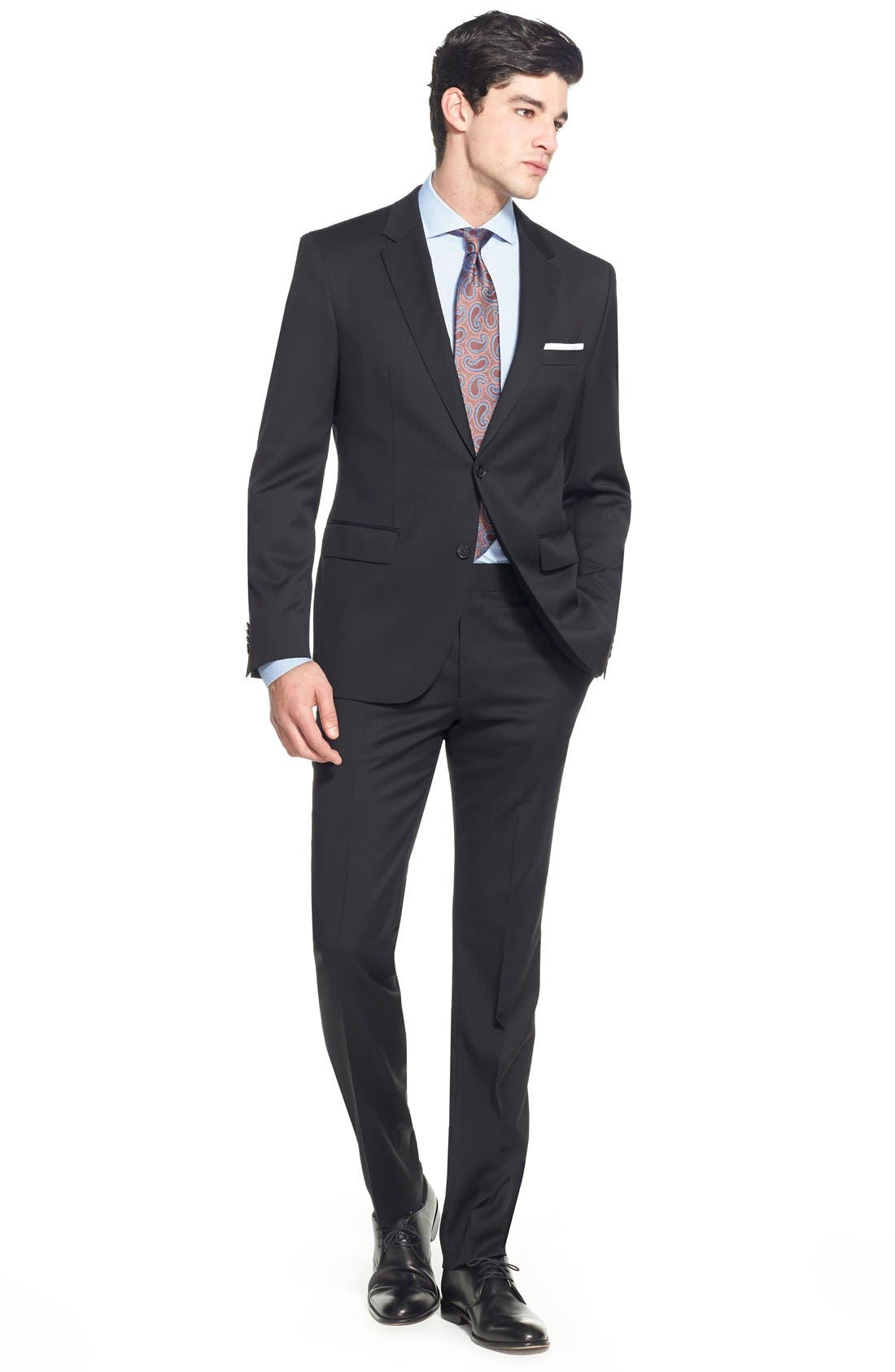 Johnstons/Lenon Classic Fit Wool Suit,                             Alternate thumbnail 2, color,                             001