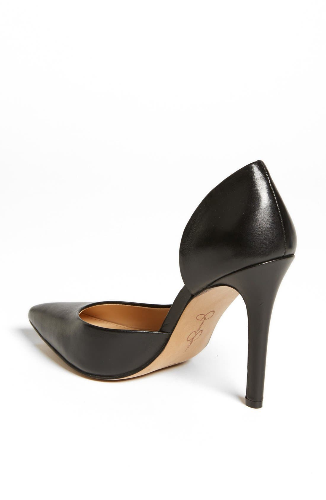 JESSICA SIMPSON,                             'Claudette' Half d'Orsay Pump,                             Alternate thumbnail 5, color,                             001