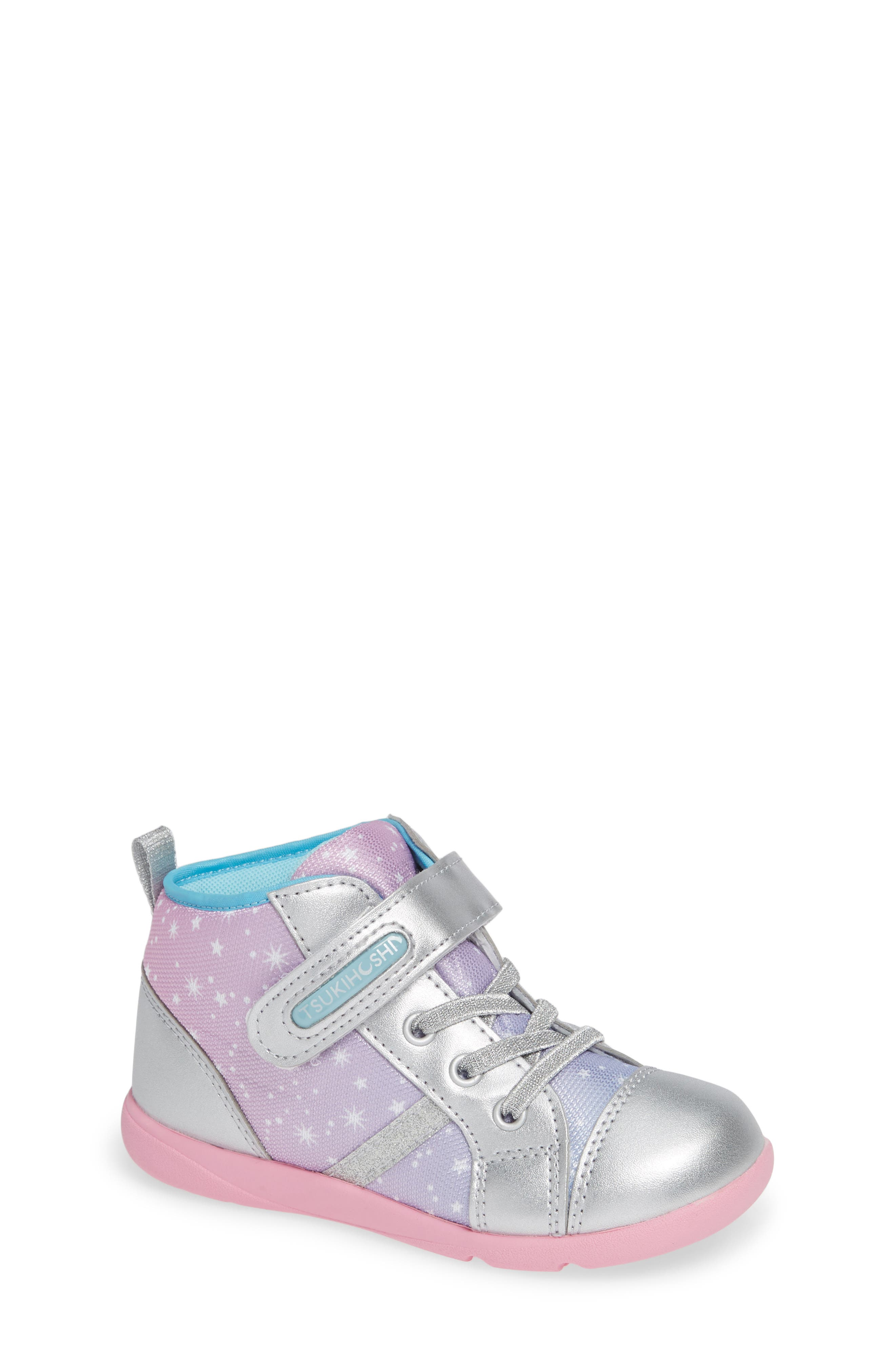 Star Washable Sneaker,                         Main,                         color, SILVER/ PINK