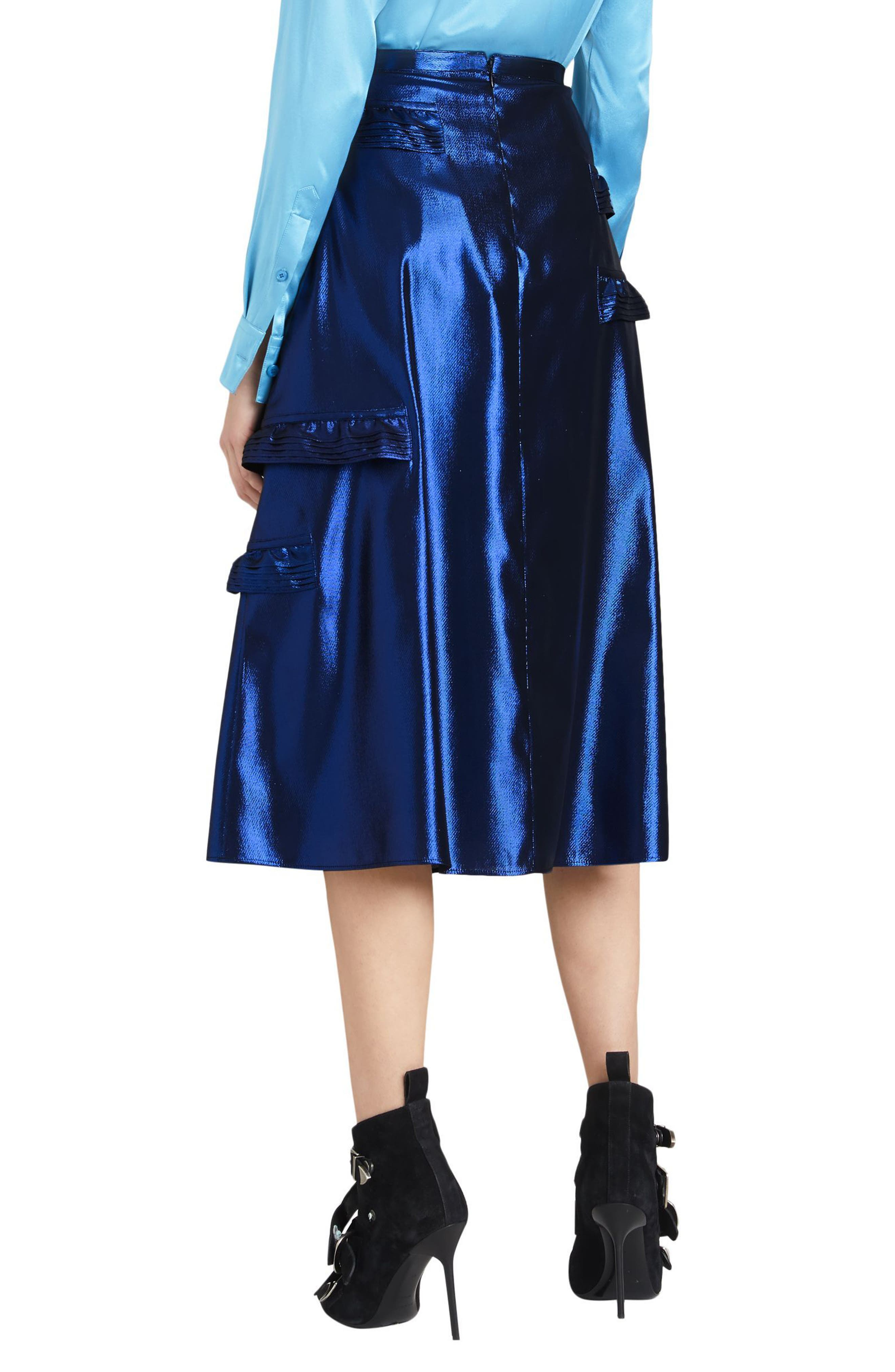 Merse Metallic Ruffle Skirt,                             Alternate thumbnail 2, color,                             410