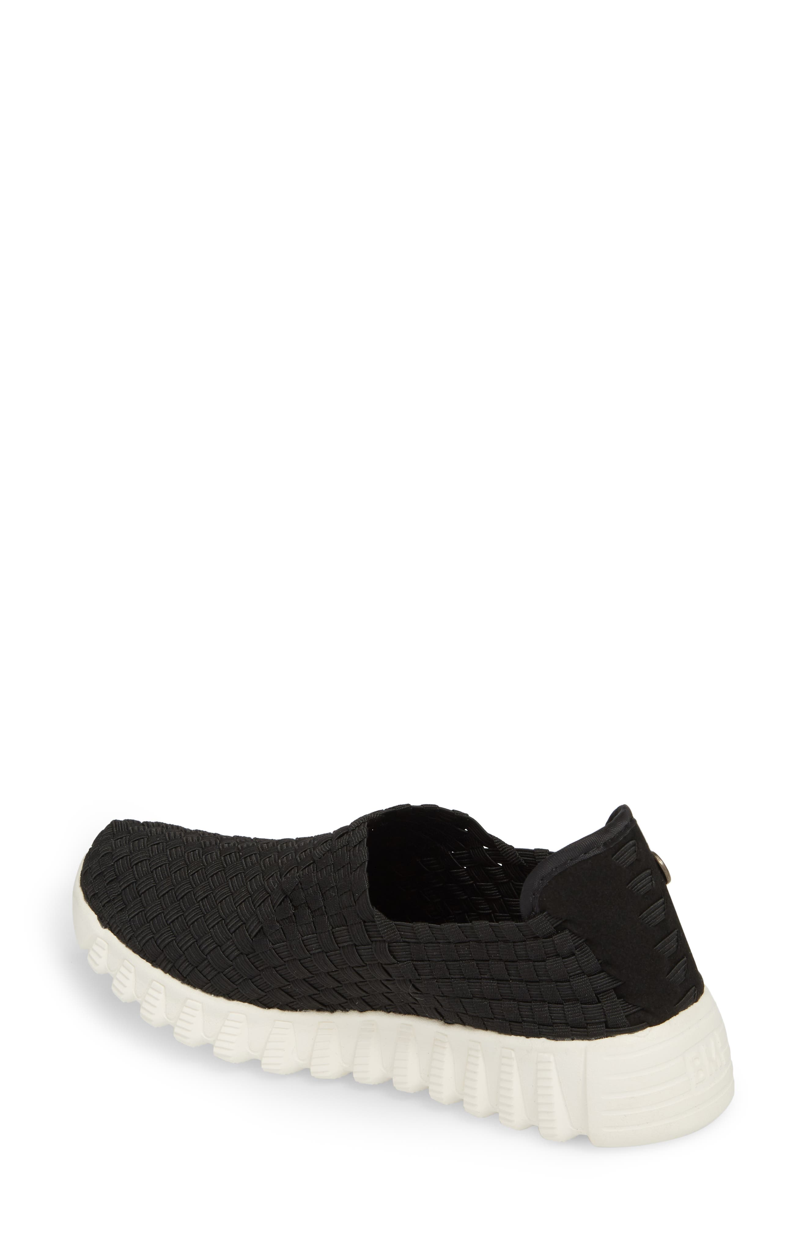 Woven Slip-On Sneaker,                             Alternate thumbnail 2, color,                             BLACK