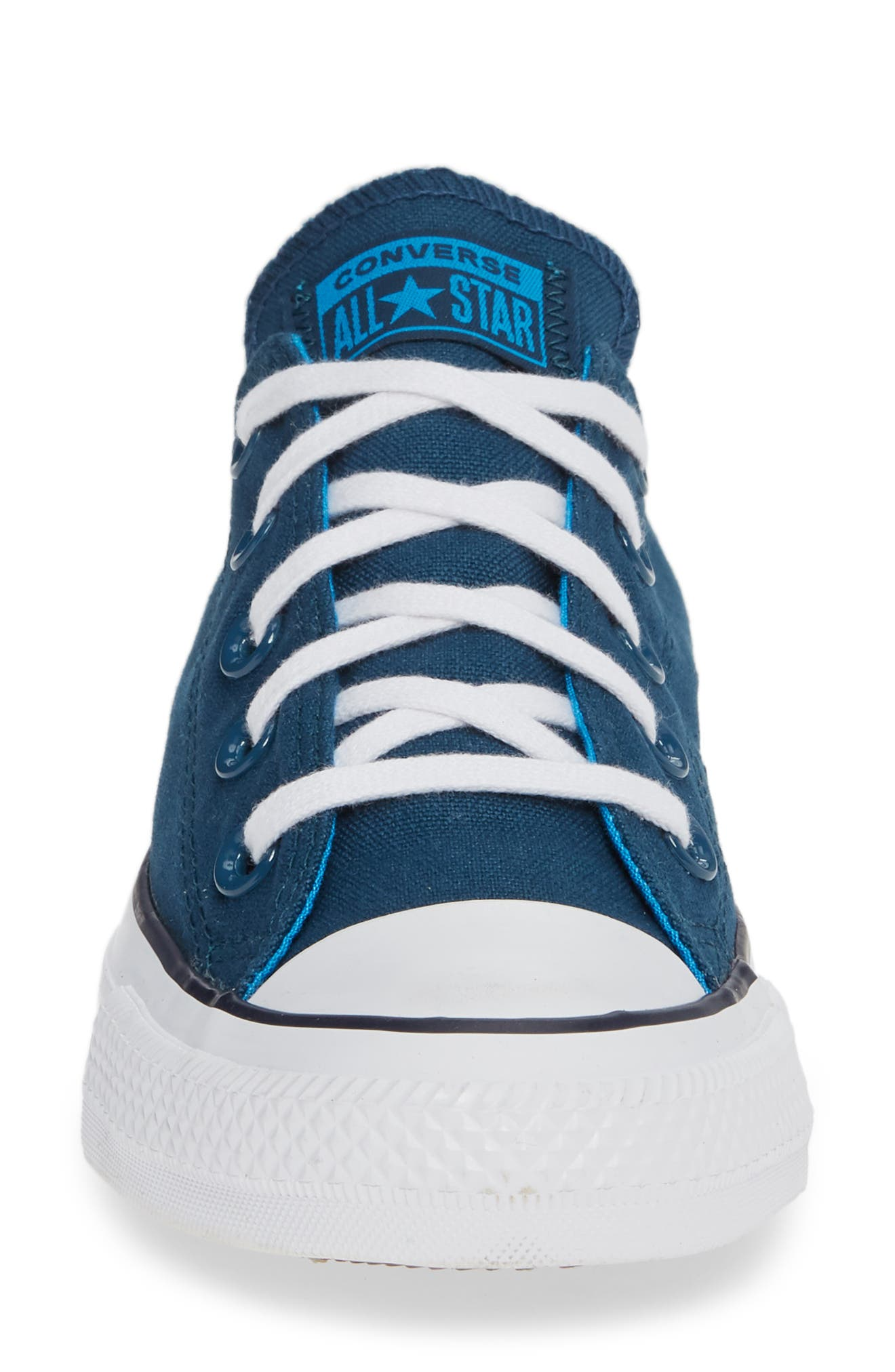 Chuck Taylor<sup>®</sup> All Star<sup>®</sup> Seasonal Ox Low Top Sneaker,                             Alternate thumbnail 4, color,                             BLUE FIR