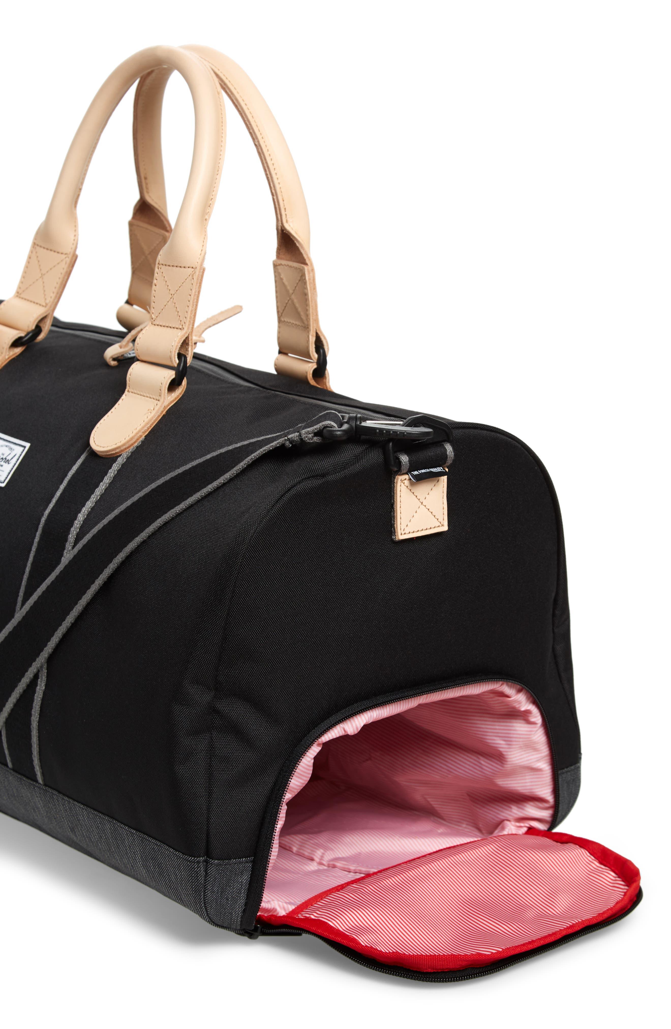 Novel Offset Denim Duffel Bag,                             Alternate thumbnail 3, color,                             012