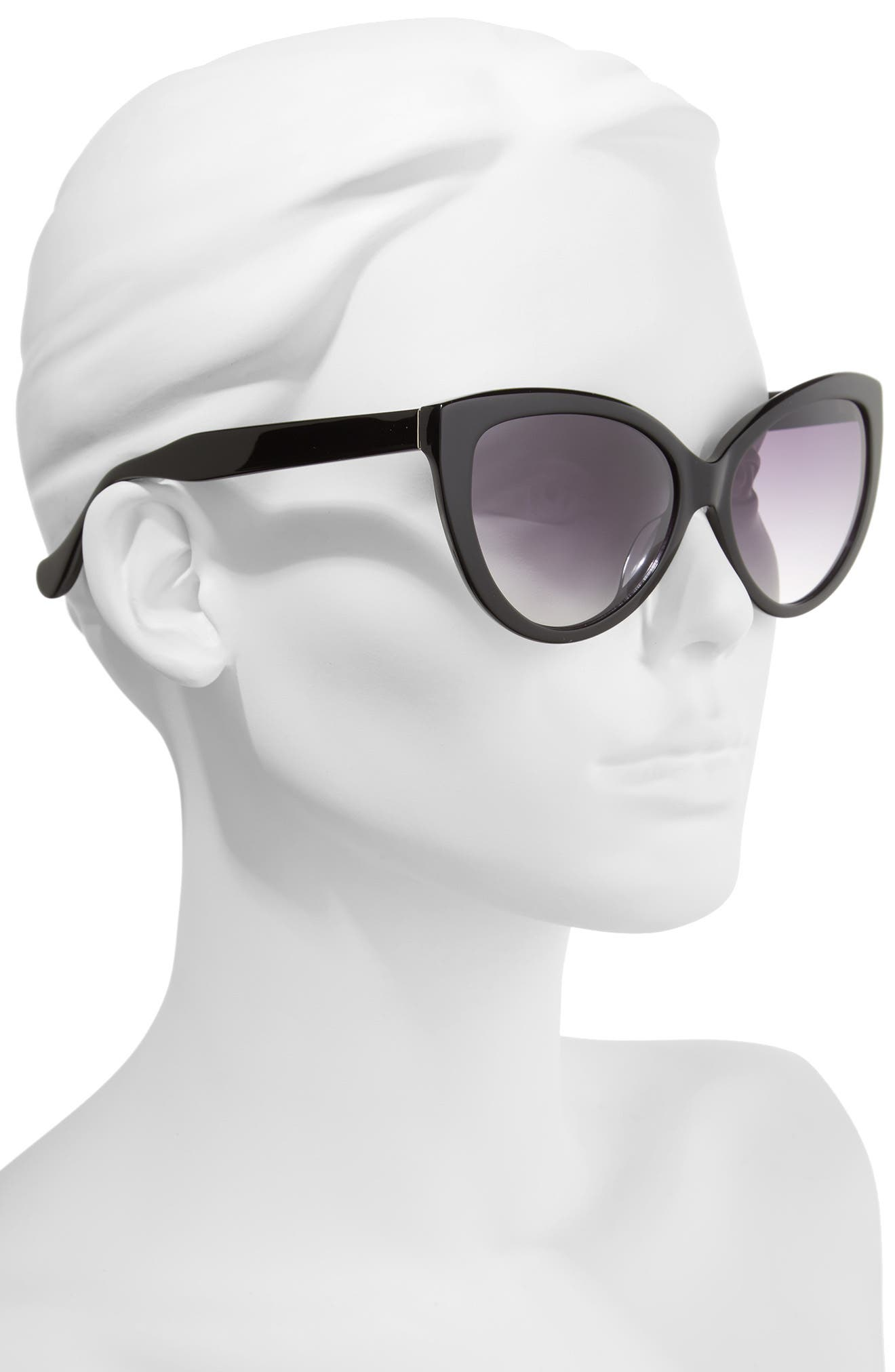 Curiosity 59mm Cat Eye Sunglasses,                             Alternate thumbnail 3, color,