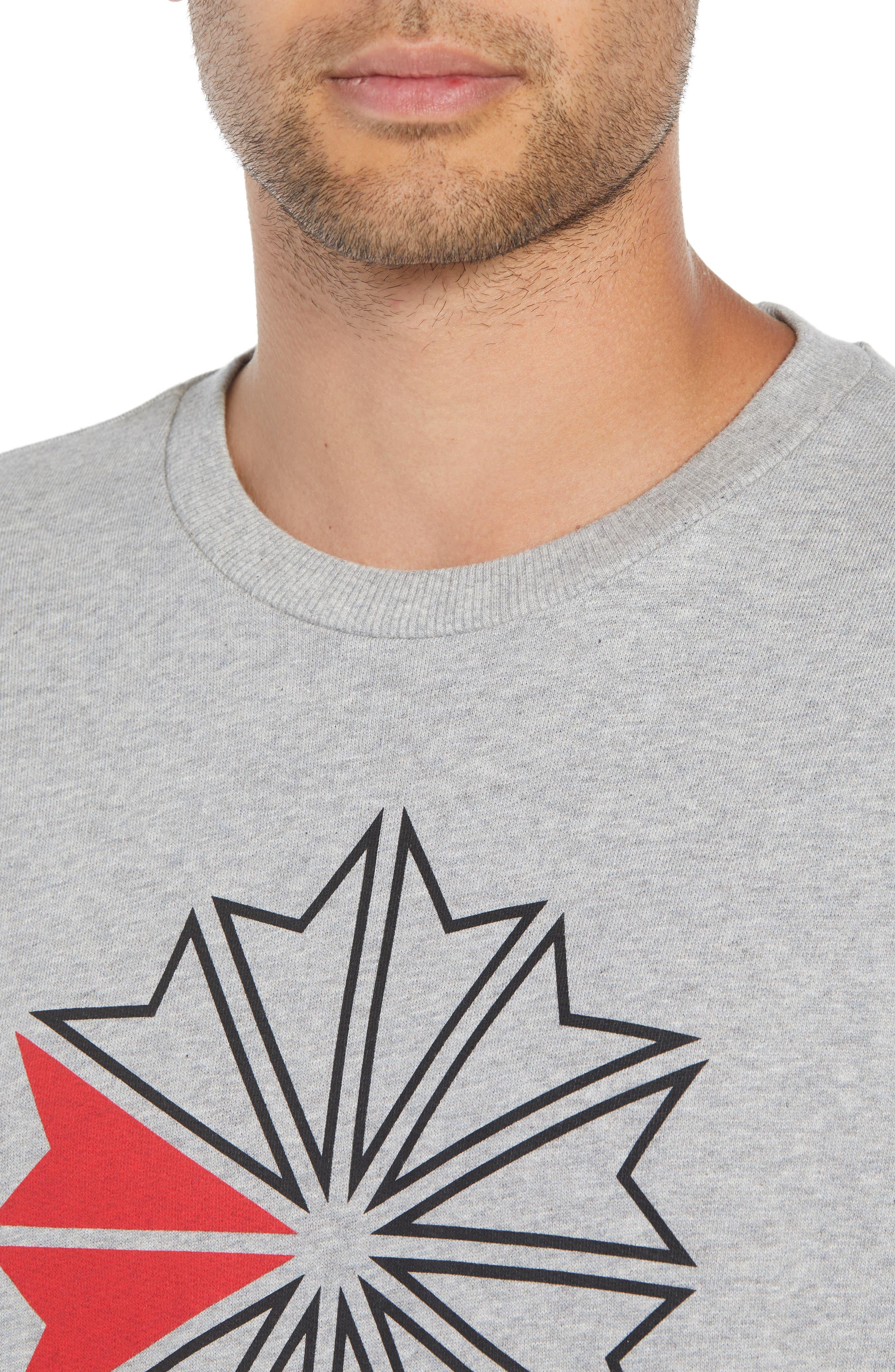 Classic Big Starcrest Logo Sweatshirt,                             Alternate thumbnail 4, color,                             MEDIUM GREY HEATHER