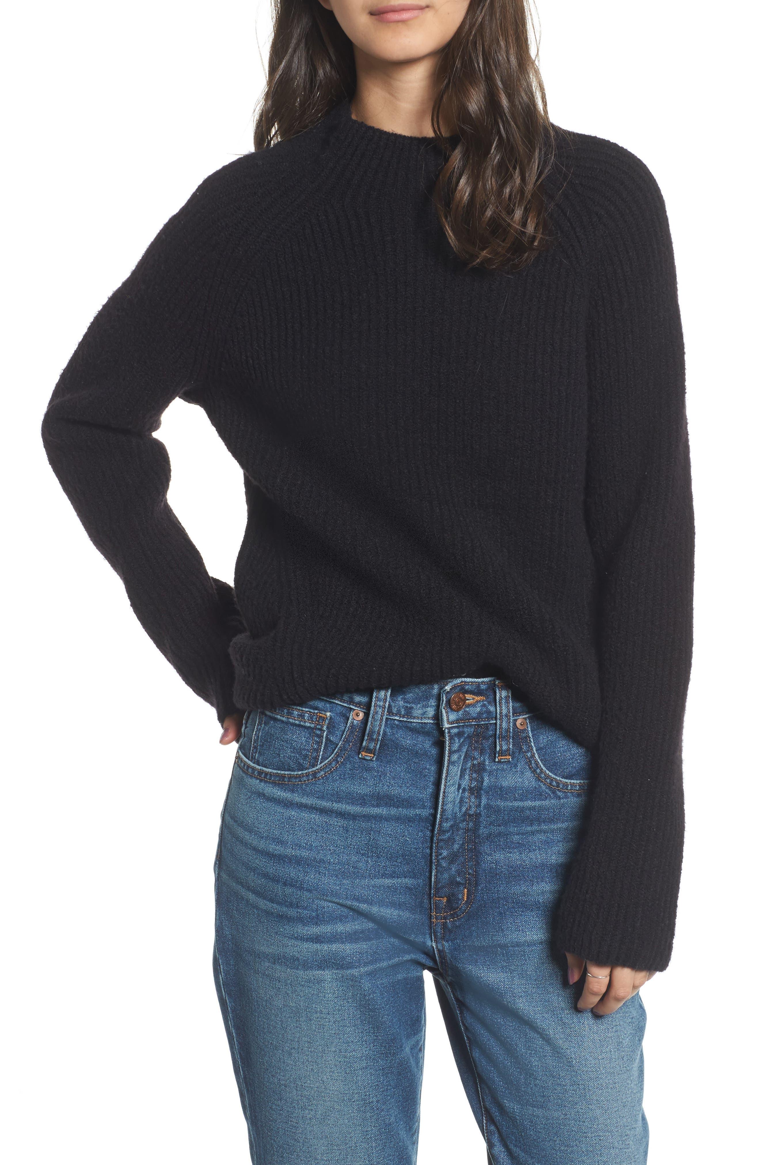 Northfield Mock Neck Sweater,                             Main thumbnail 1, color,                             001