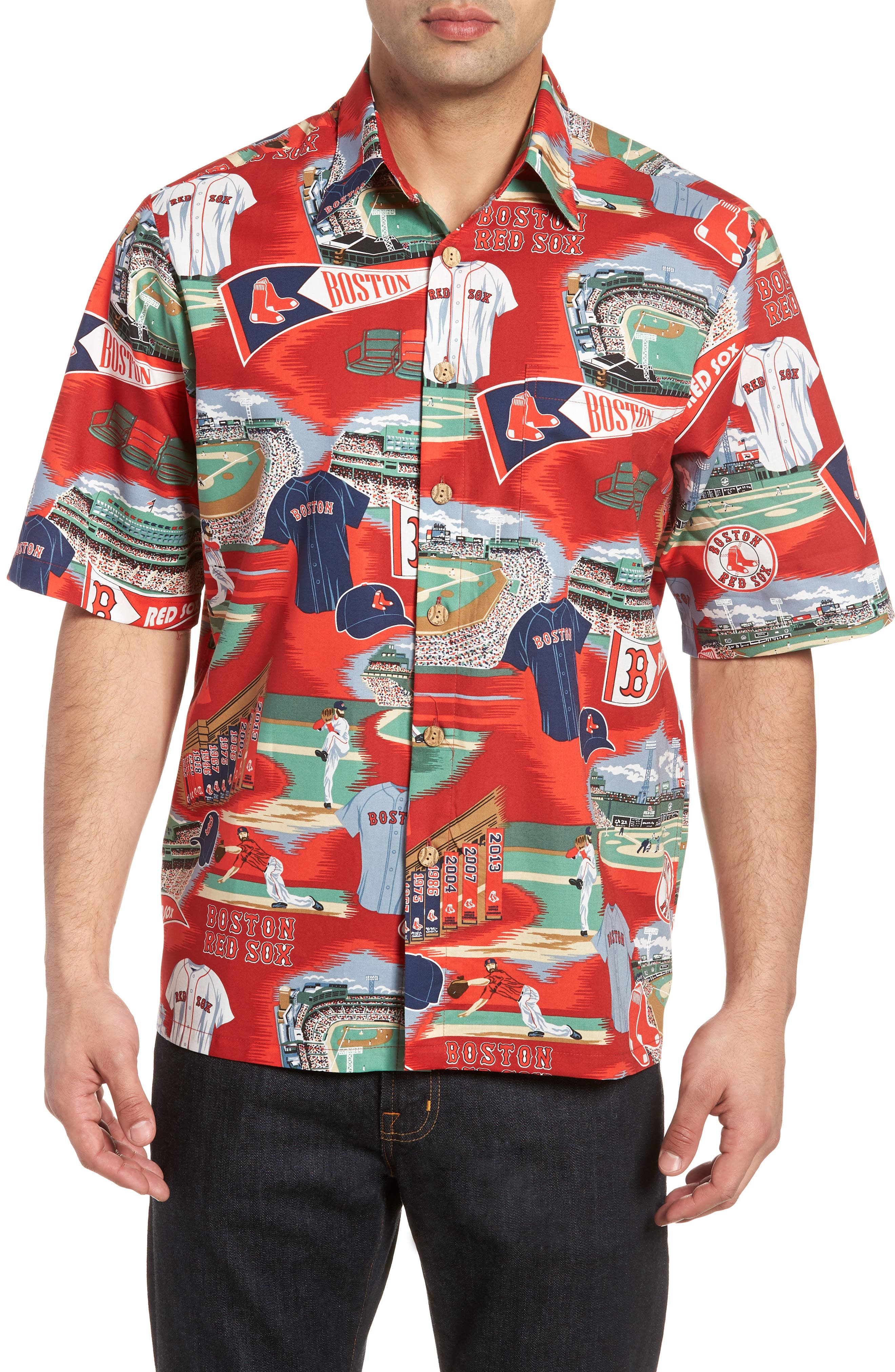 Boston Red Sox Classic Fit Camp Shirt,                             Main thumbnail 1, color,                             115