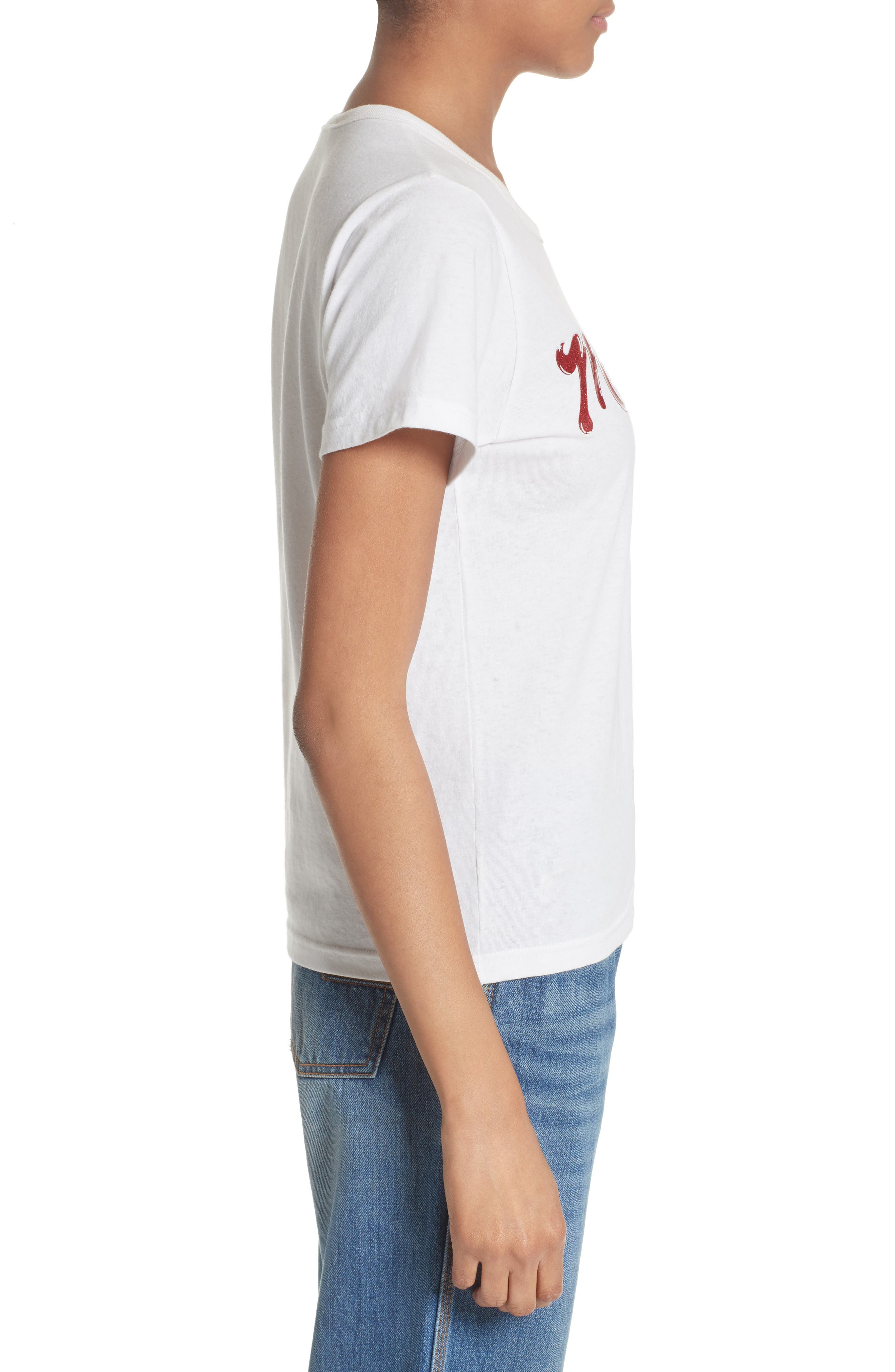 Lacquered Logo Tee,                             Alternate thumbnail 3, color,