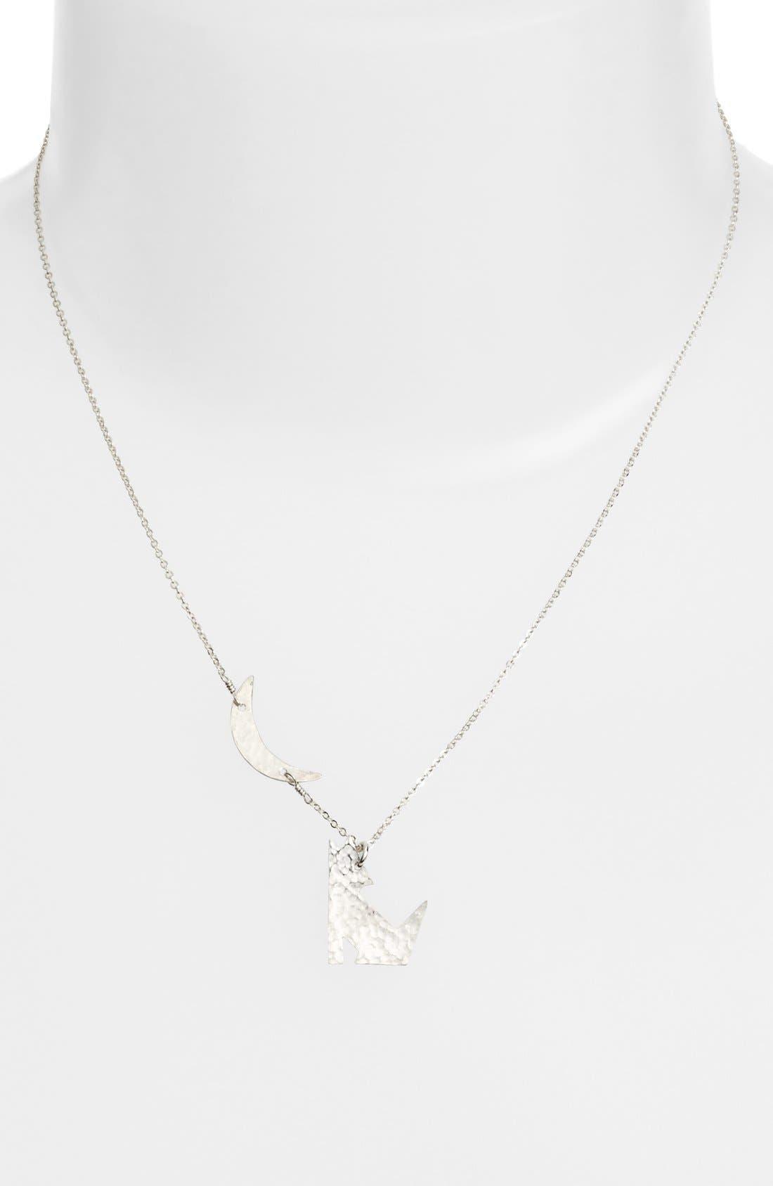 Coyote Pendant Necklace,                         Main,                         color, 040