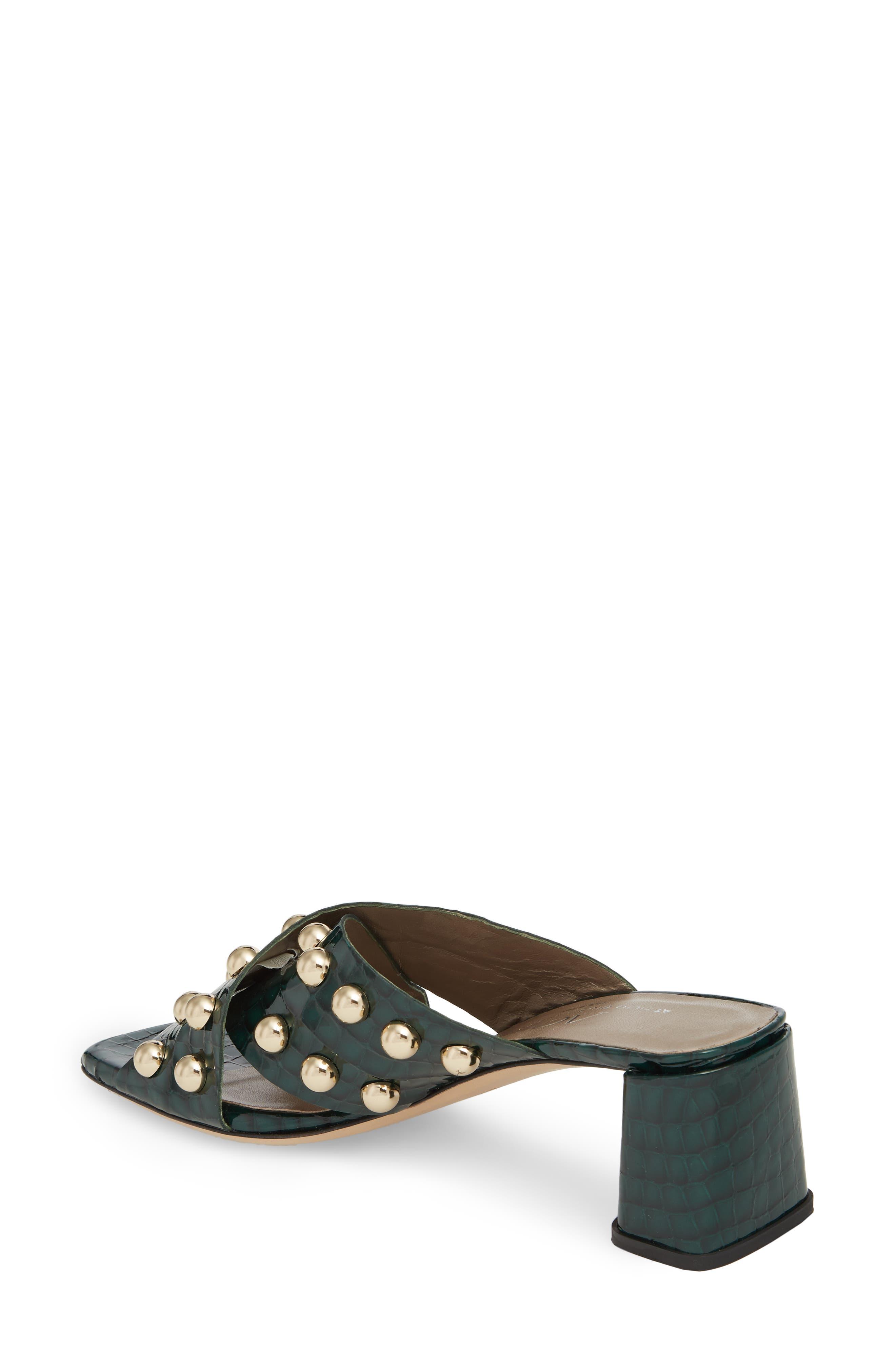 Studded Block Heel Slide Sandal,                             Alternate thumbnail 2, color,                             301